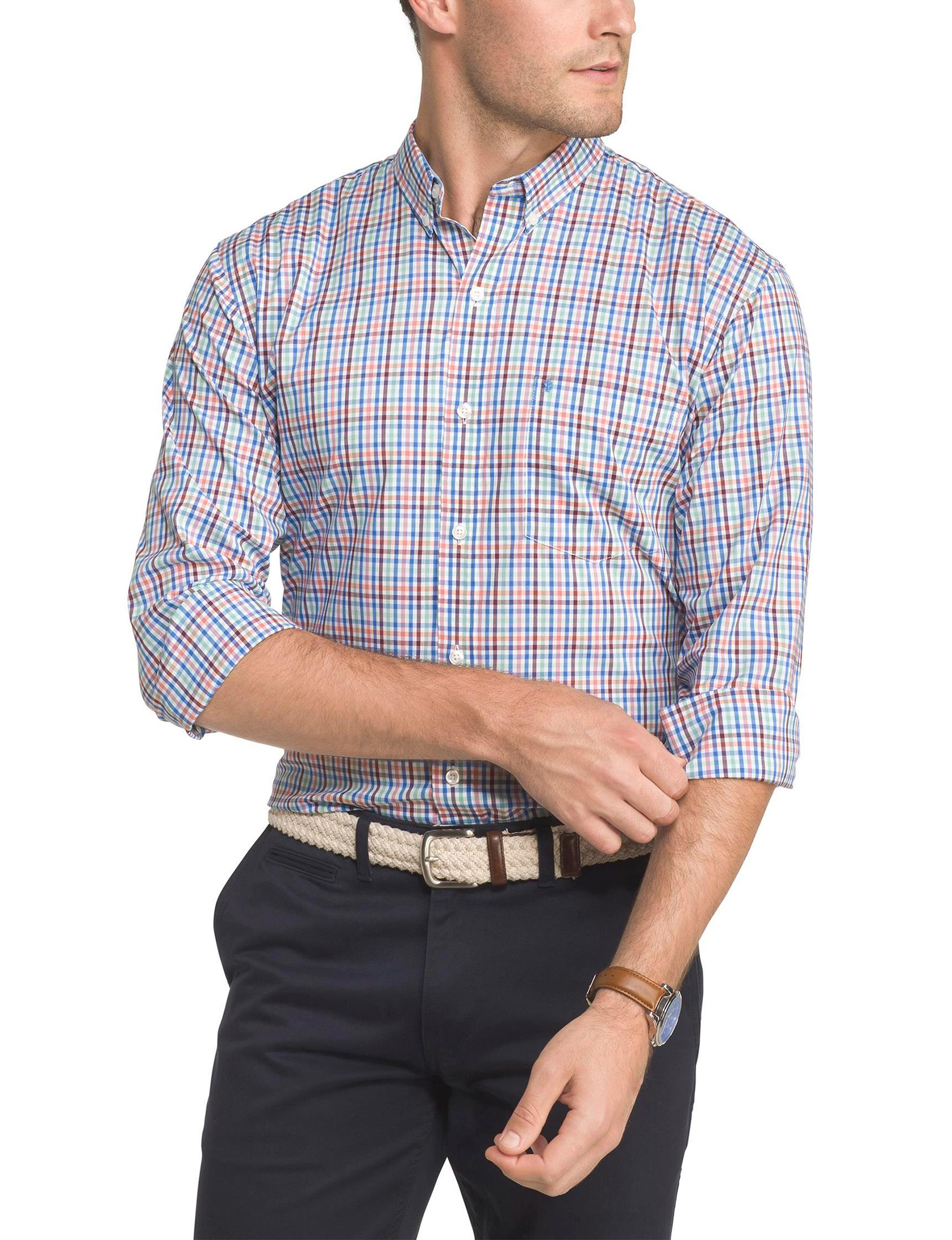 Izod Fig Casual Button Down Shirts