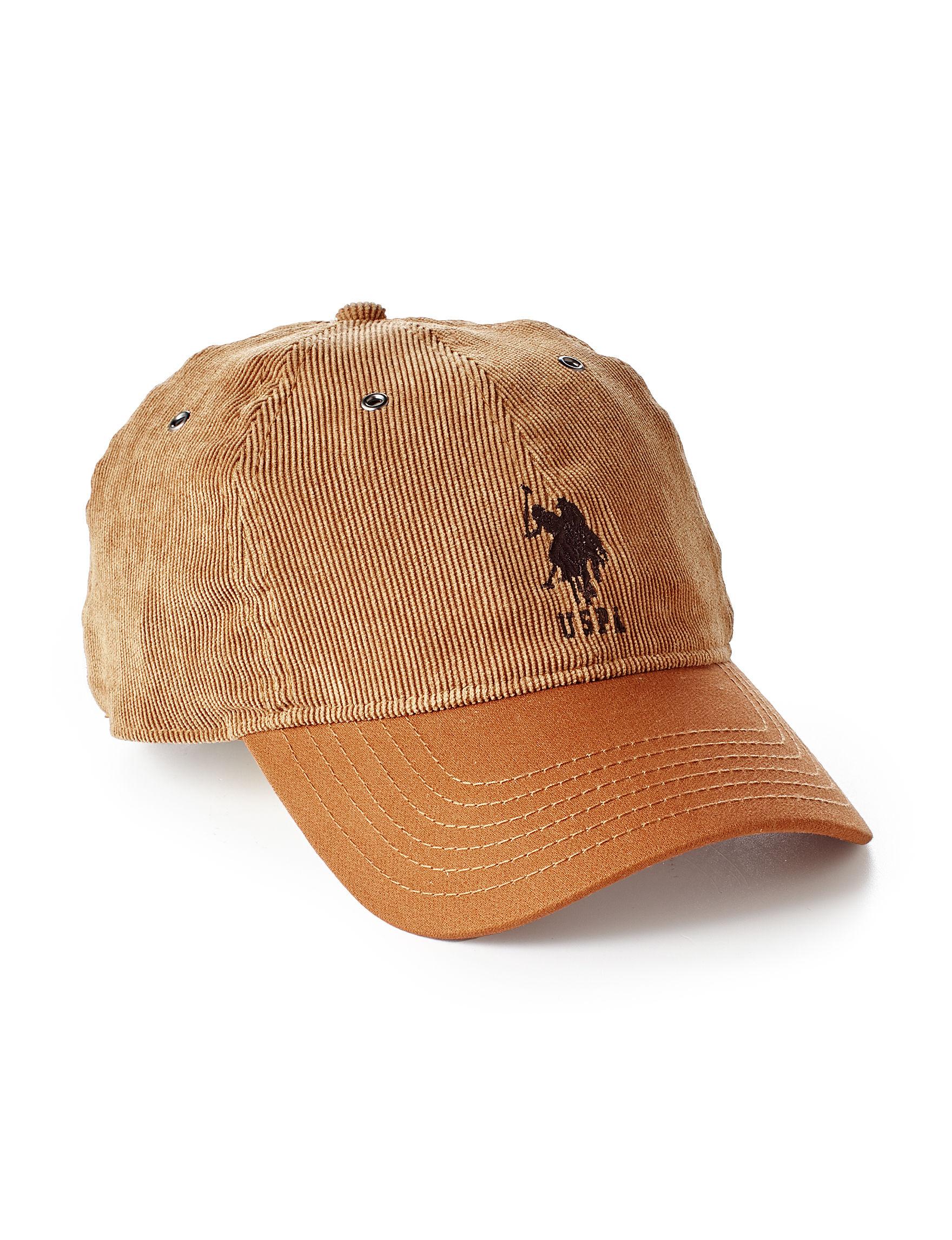 U.S. Polo Assn. Beige Hats & Headwear