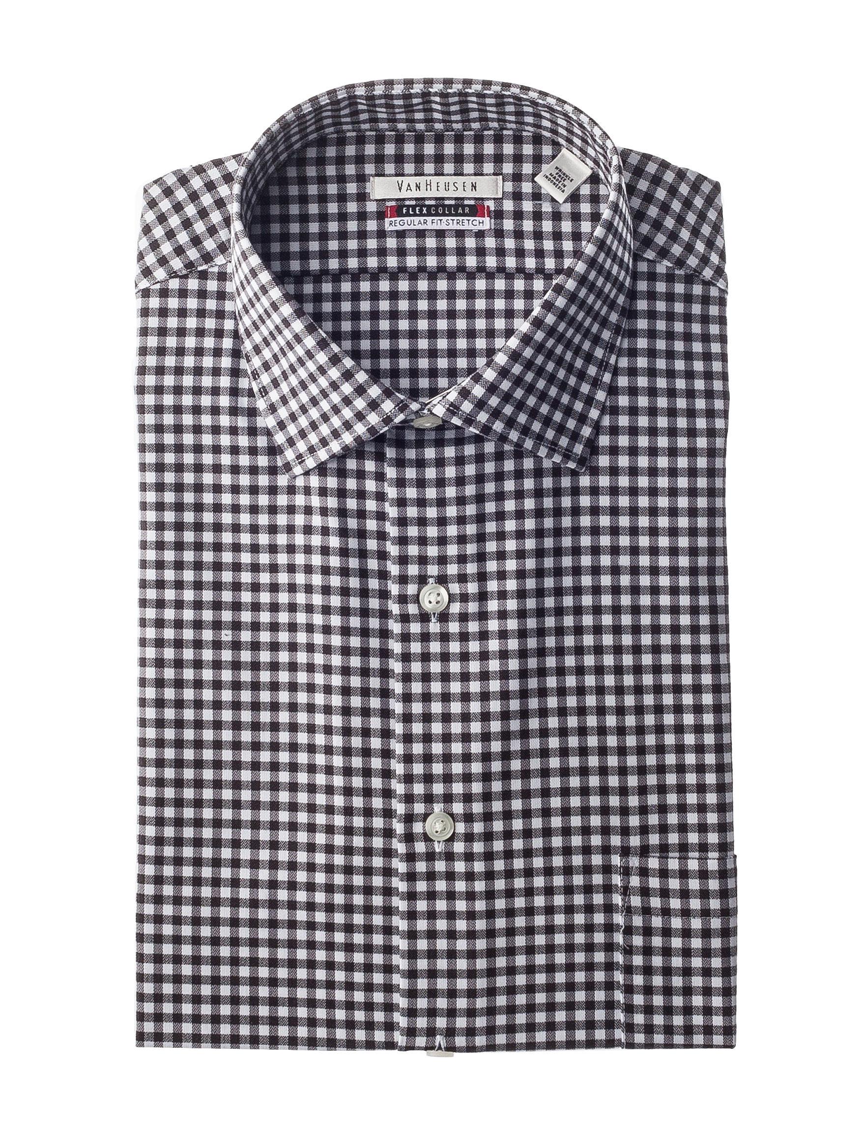 Van Heusen Black / White Dress Shirts