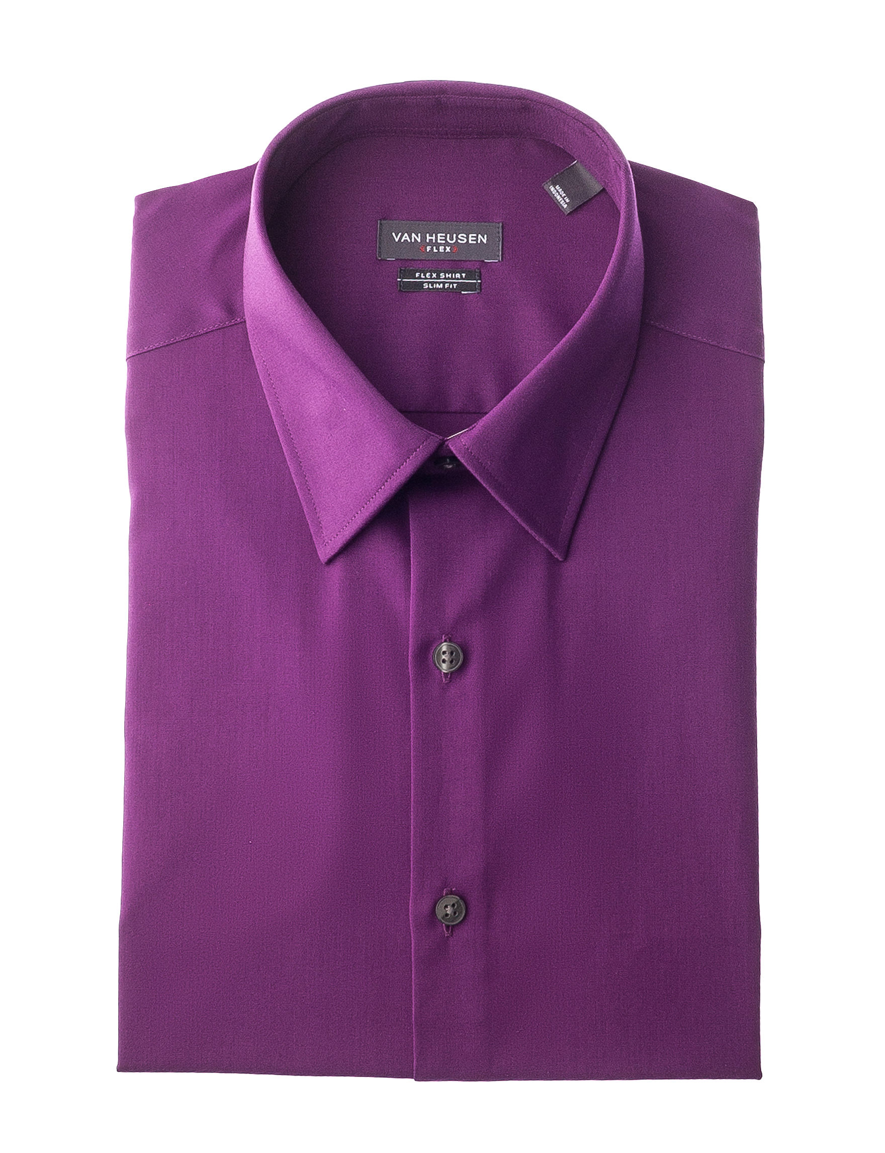 Van Heusen Purple Dress Shirts