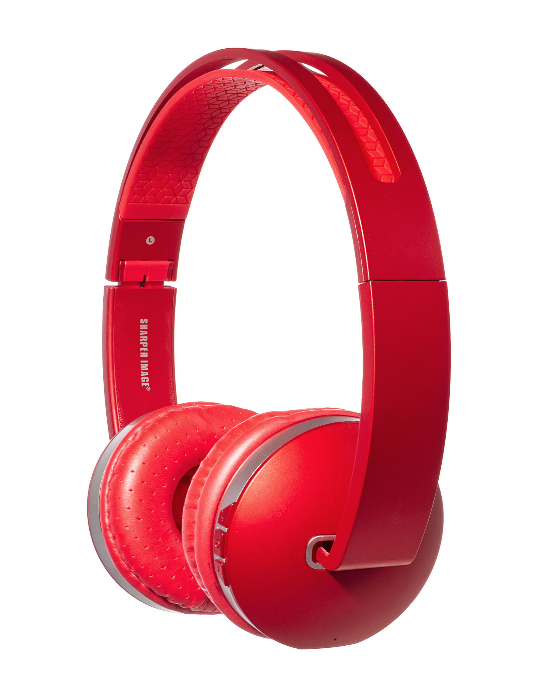 Sharper Image Red Headphones Home & Portable Audio Tech Accessories
