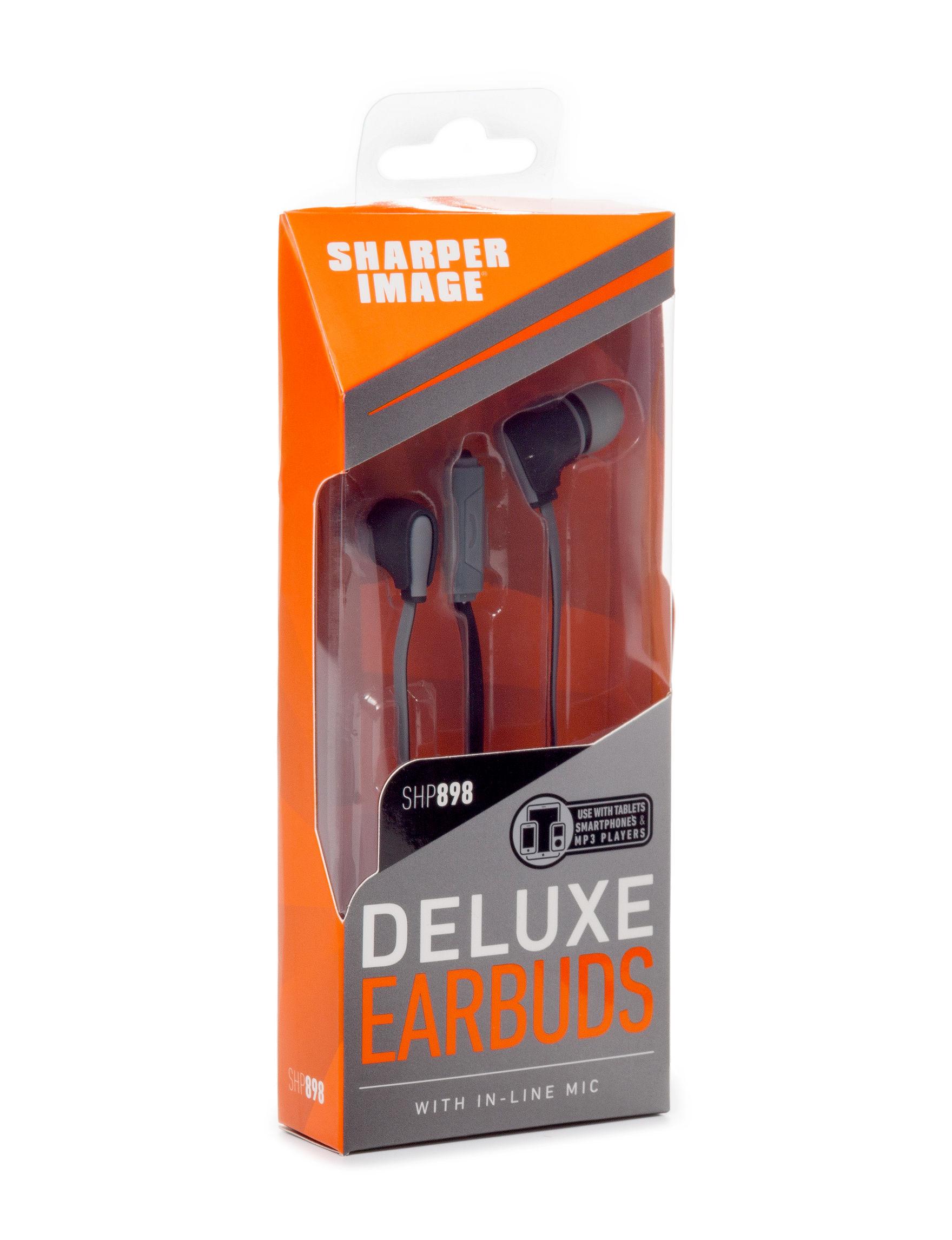 Sharper Image Black Headphones Home & Portable Audio Tech Accessories Travel Accessories