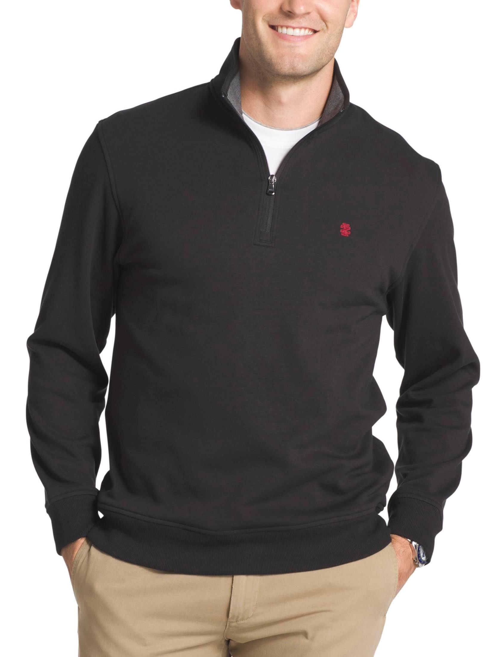 Izod Black Fleece & Soft Shell Jackets