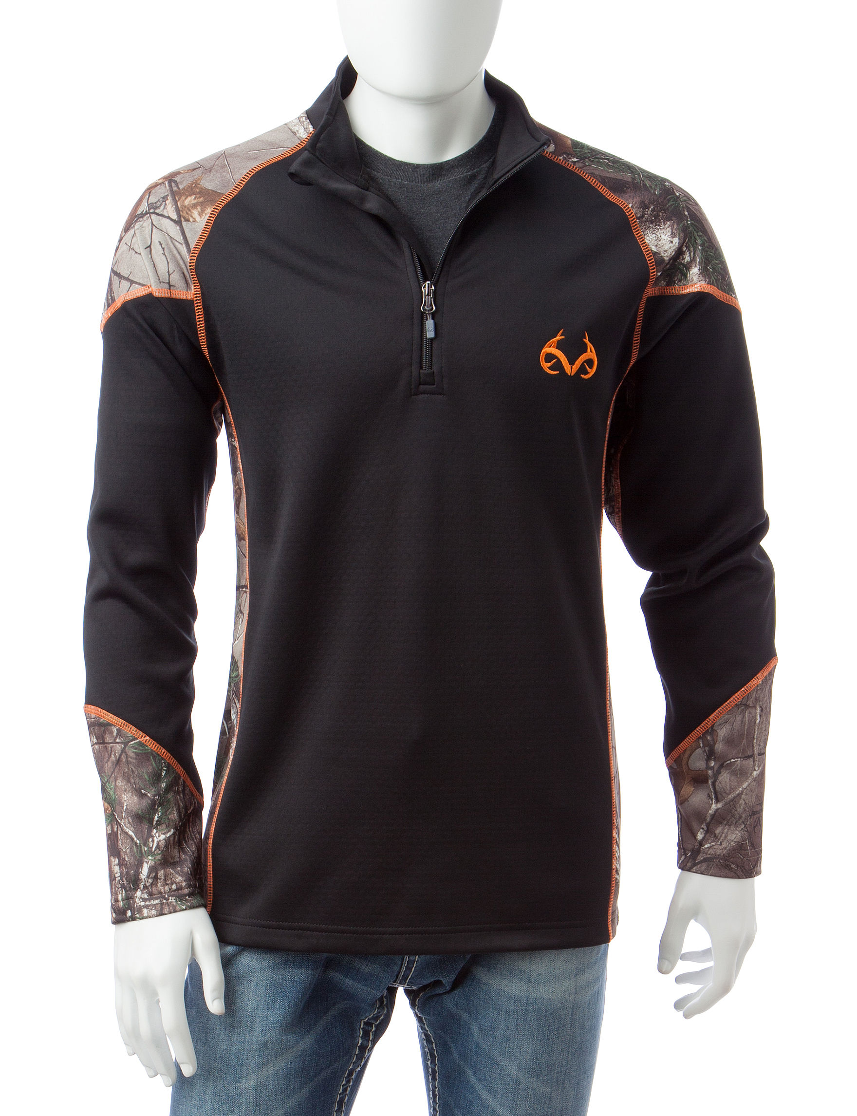 Realtree Black Pull-overs Zip-Ups