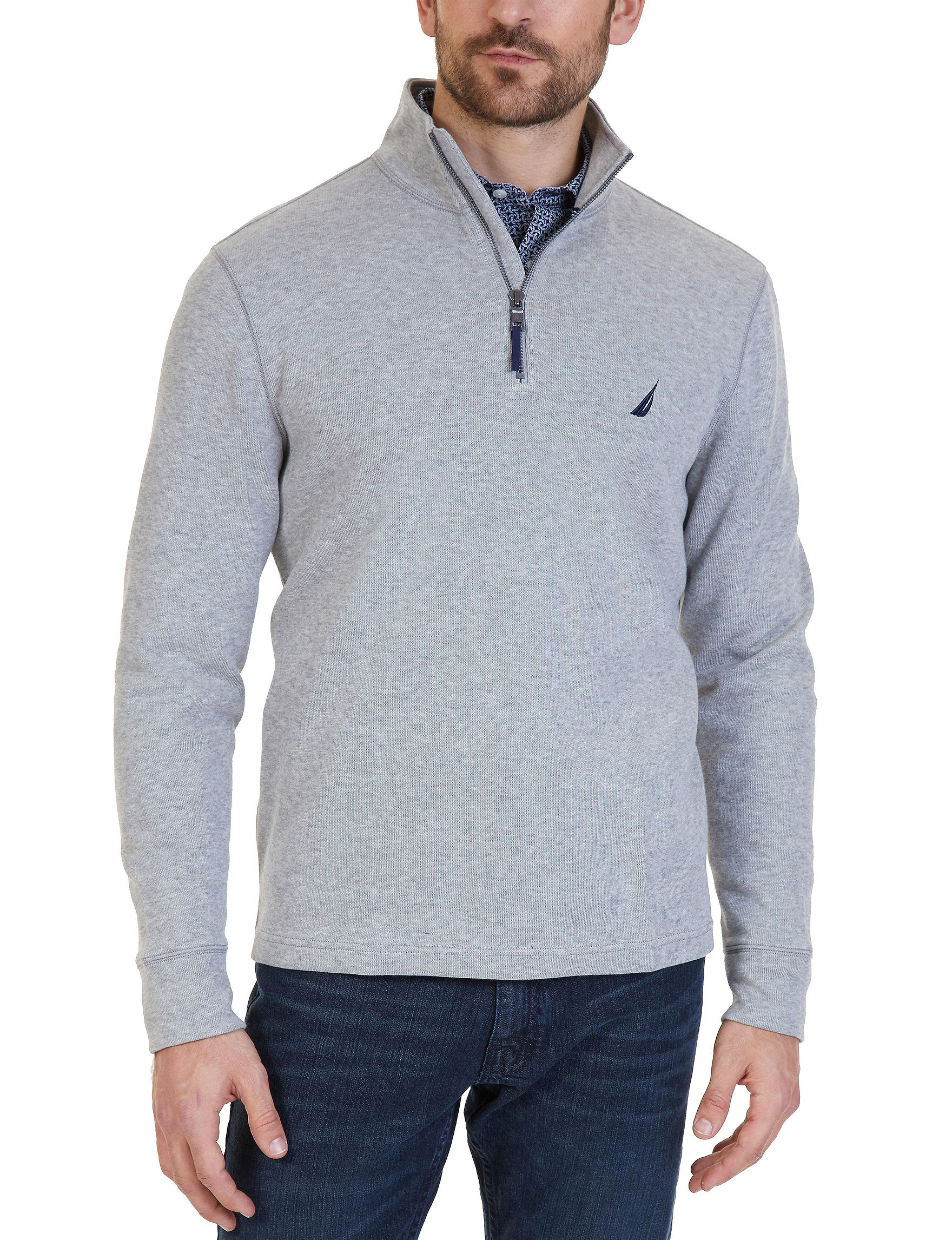 Nautica Heather Charcoal Pull-overs