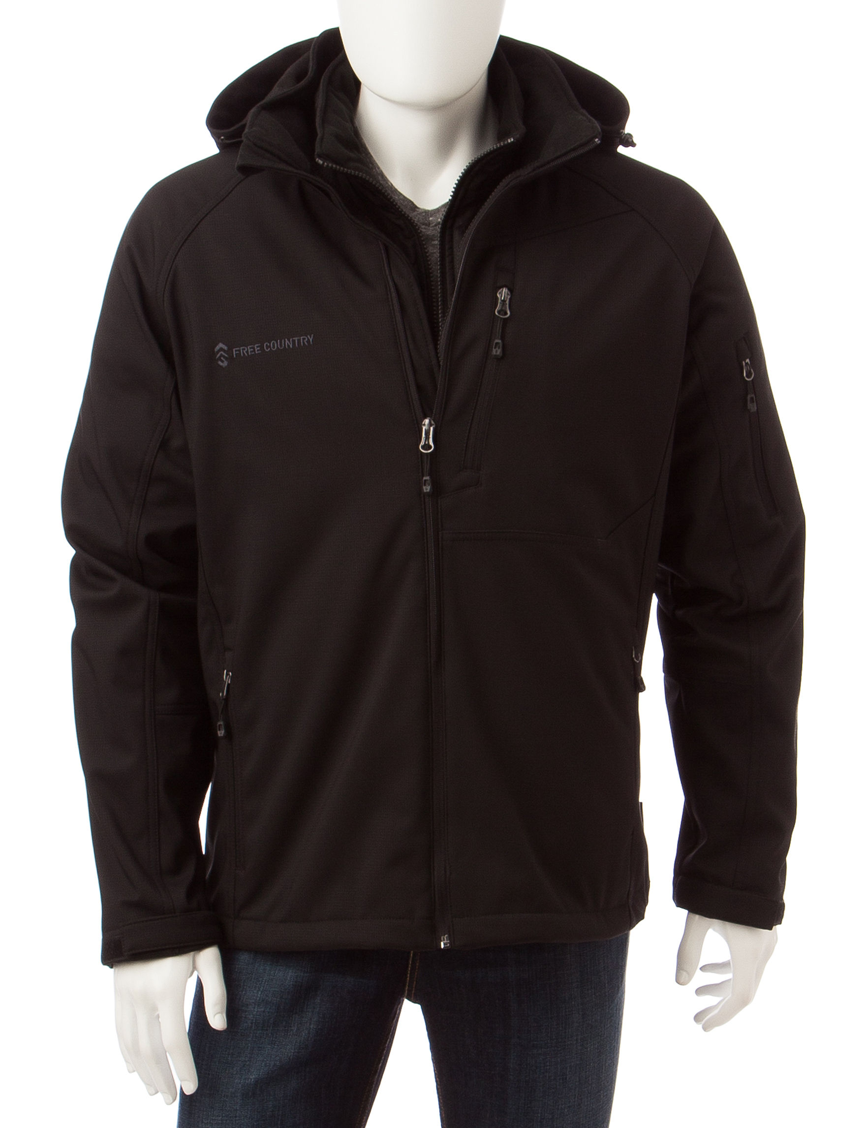 Free Country Jet Black Fleece & Soft Shell Jackets