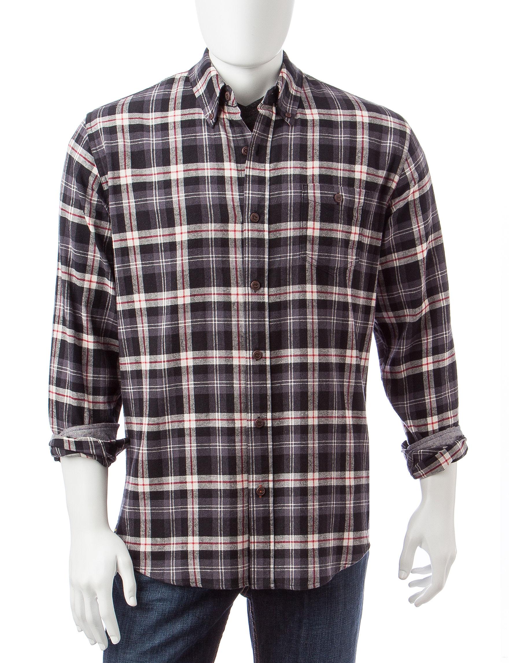 Weatherproof Ebony Casual Button Down Shirts