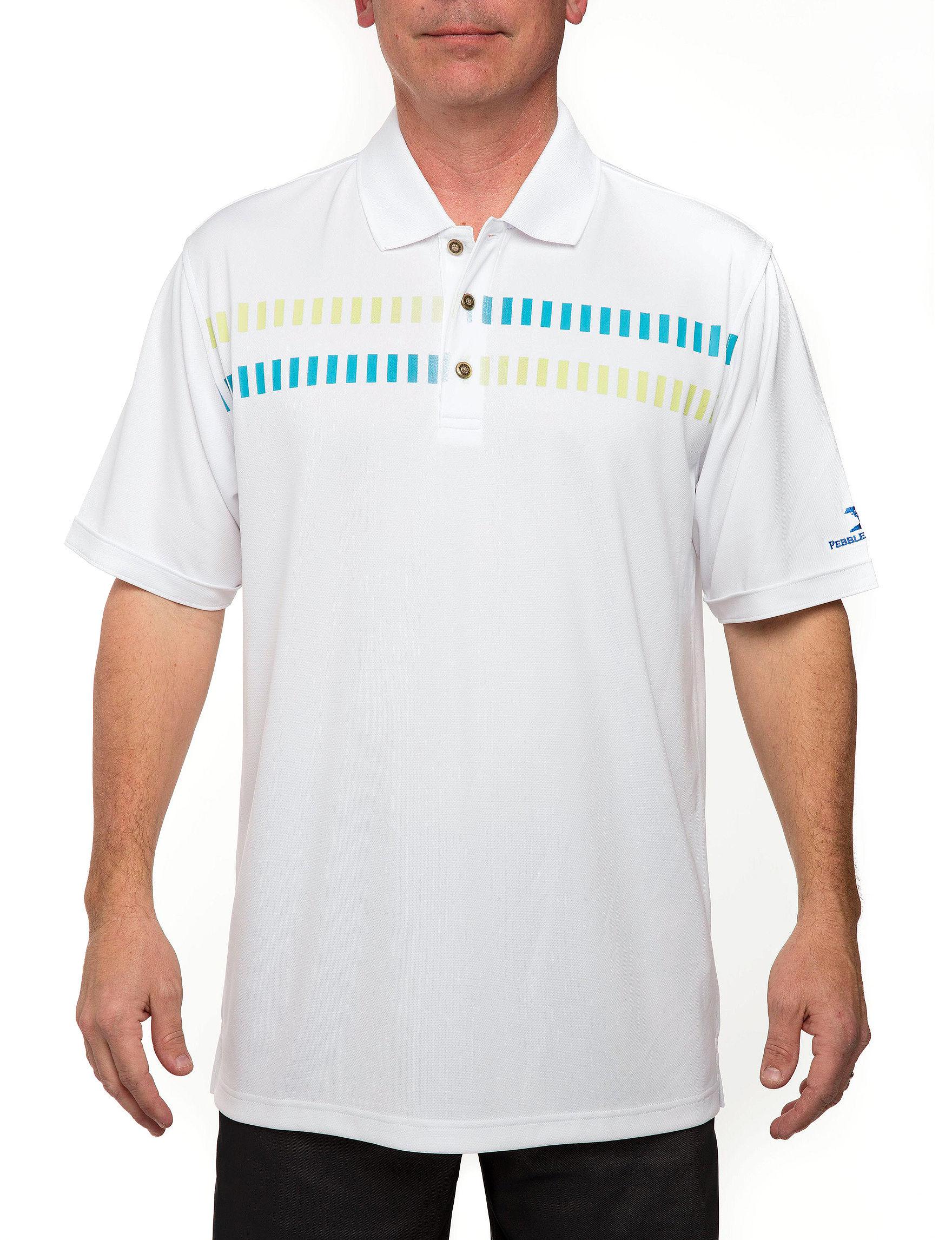 Pebble Beach White Polos