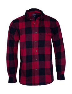 39921a88c8f7 Smith s Workwear Red   Black Casual Button Down Shirts