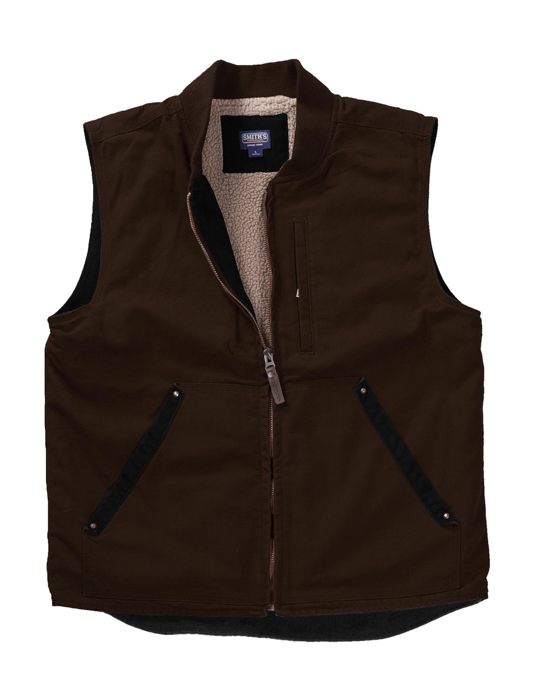 Smith's Workwear Brown Vests