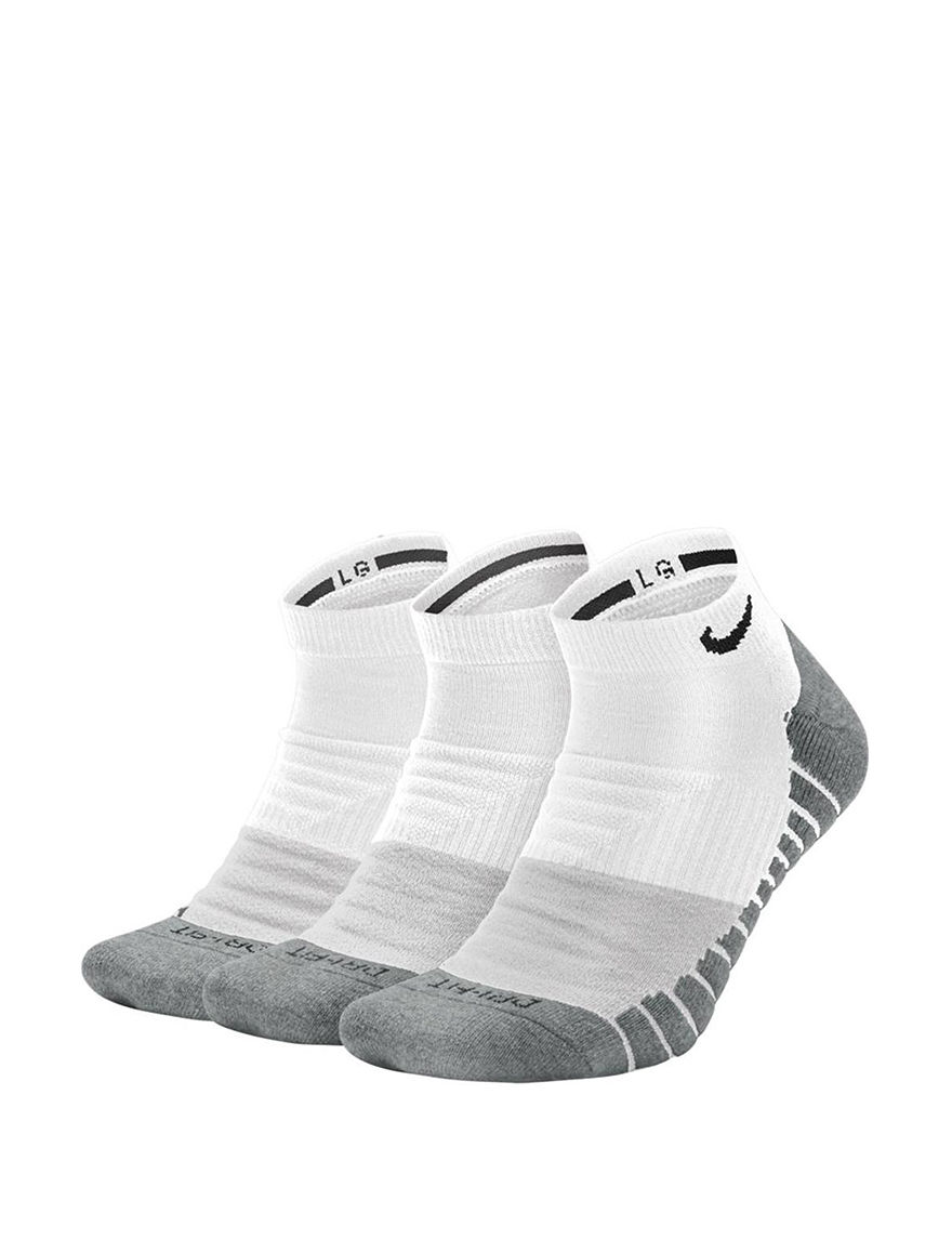 Nike White / Grey Socks