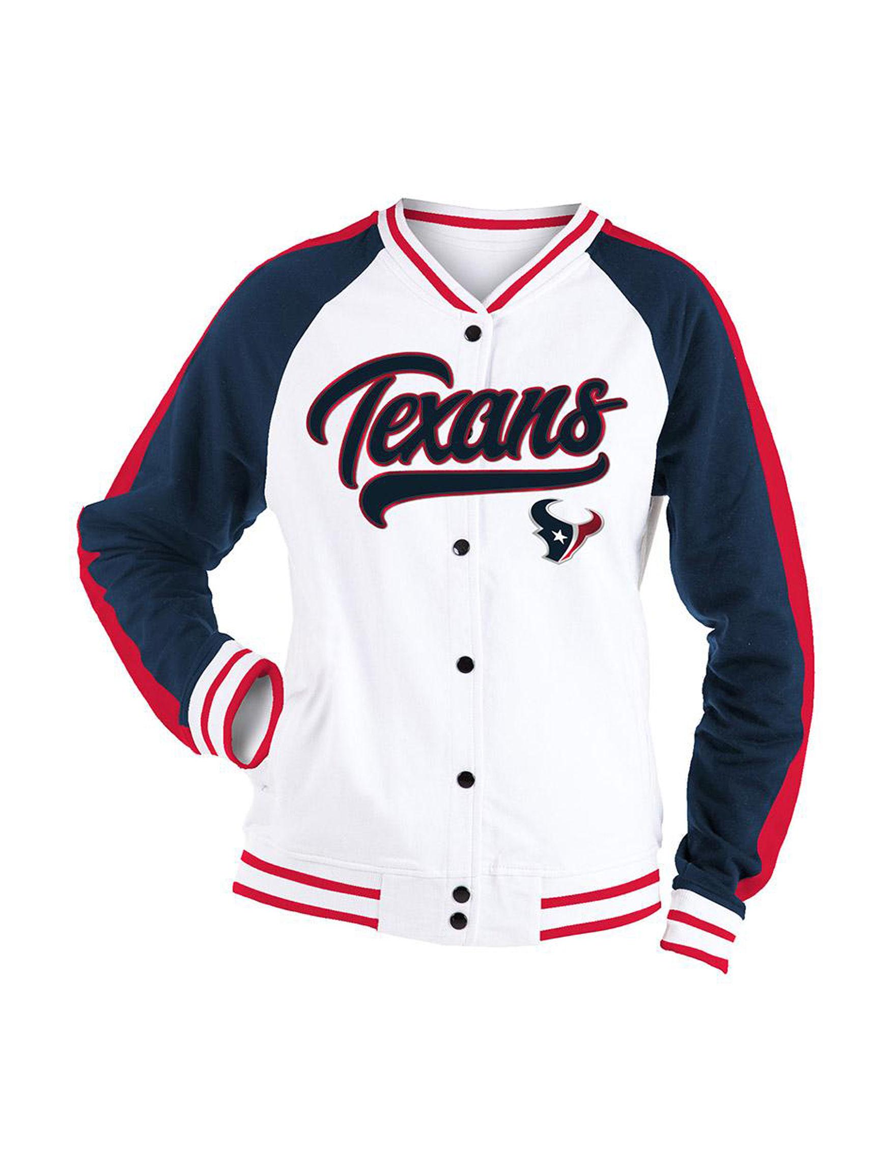 NFL White / Navy / Red Lightweight Jackets & Blazers