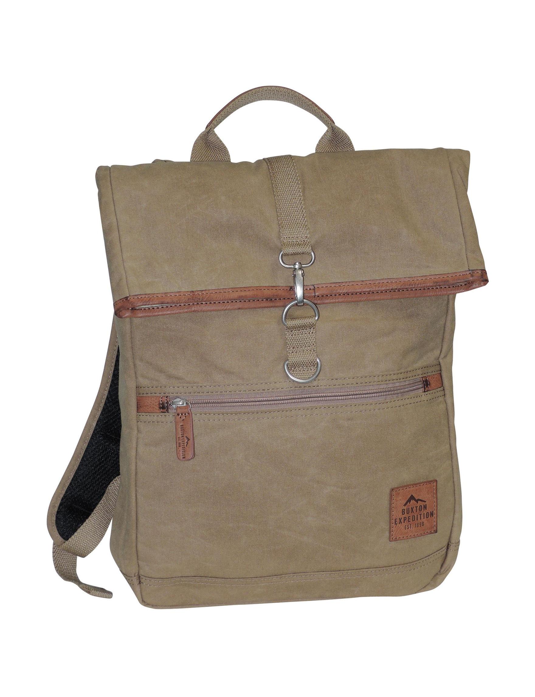 Buxton Tan Bookbags & Backpacks