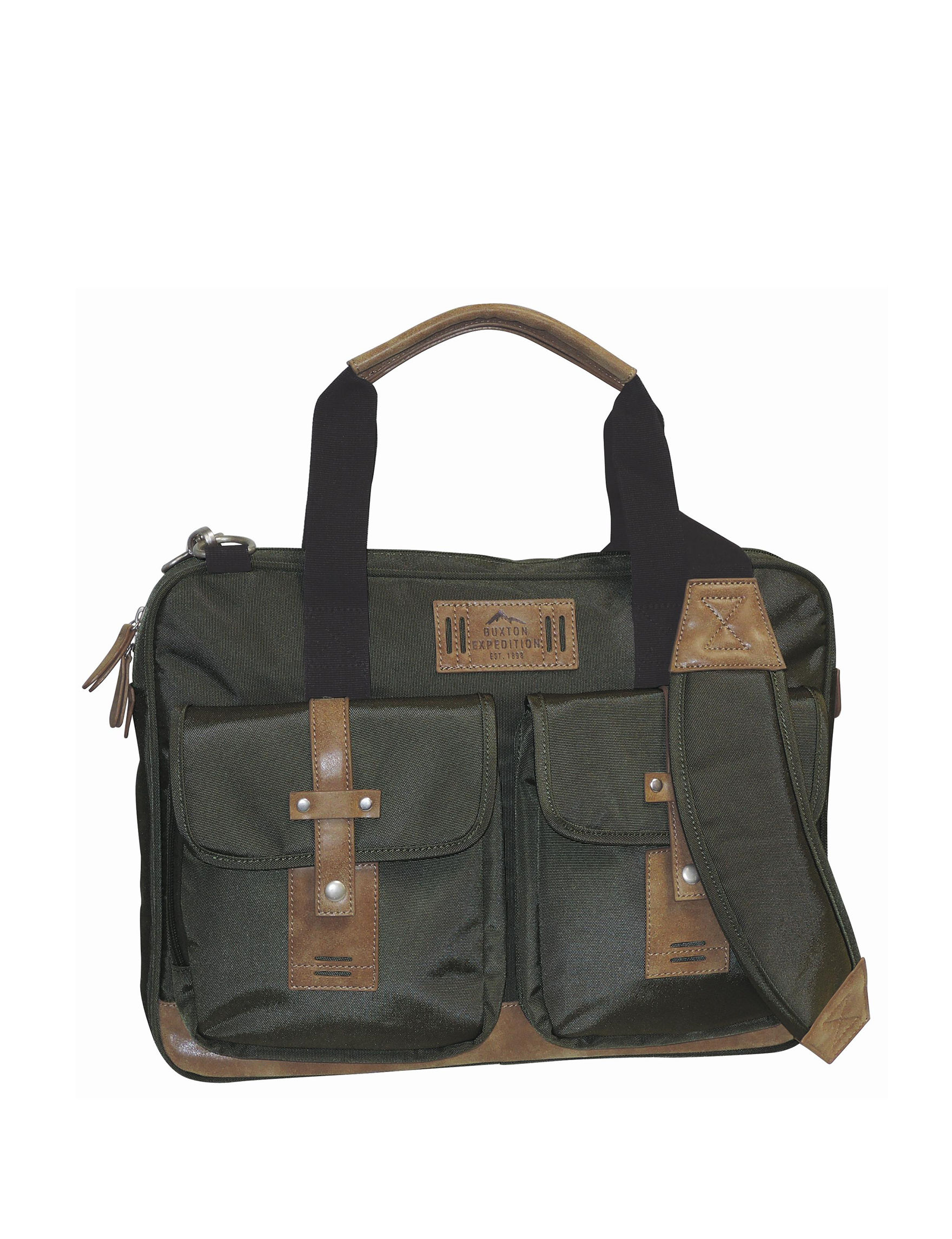 Buxton Olive Briefcases