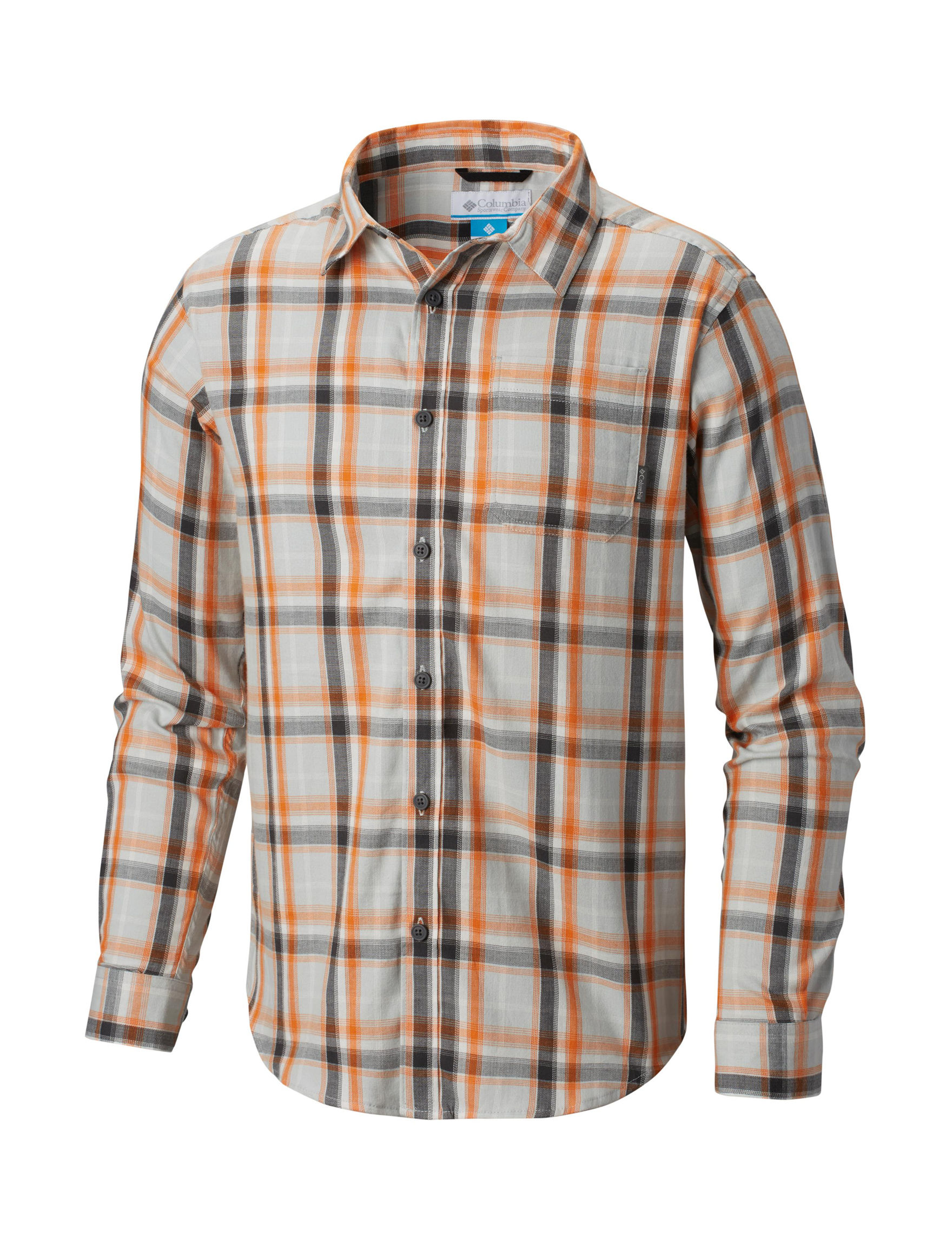 Columbia Brown Multi Casual Button Down Shirts
