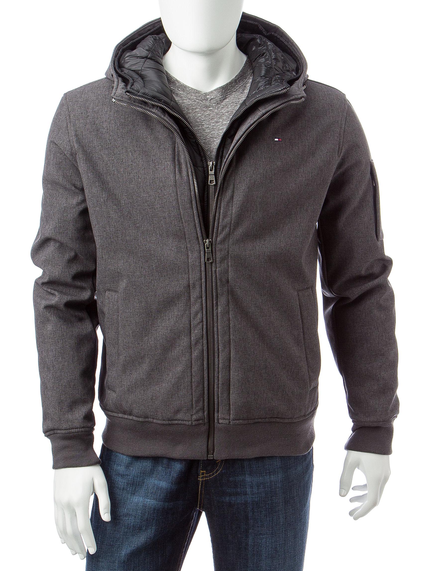 Tommy Hilfiger Charcoal Fleece & Soft Shell Jackets