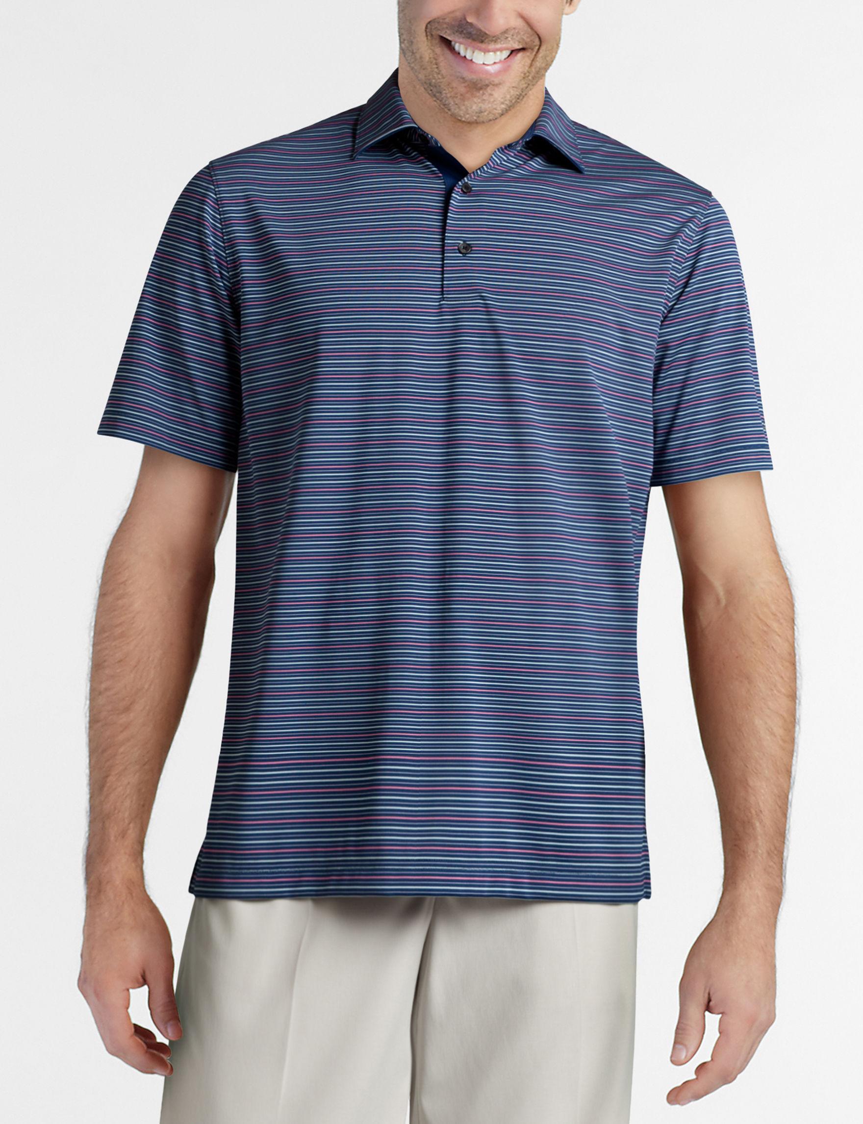Greg Norman Blue Stripe Polos