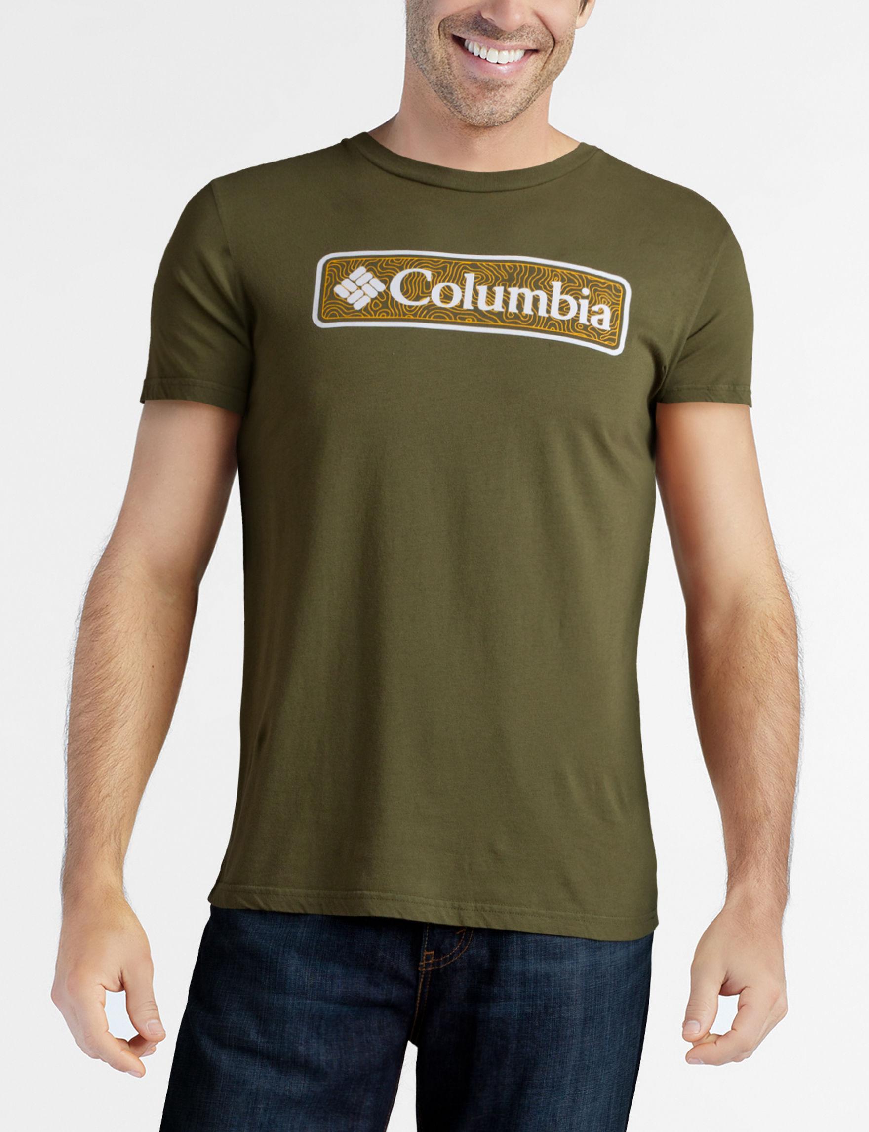 Columbia Green Tees & Tanks