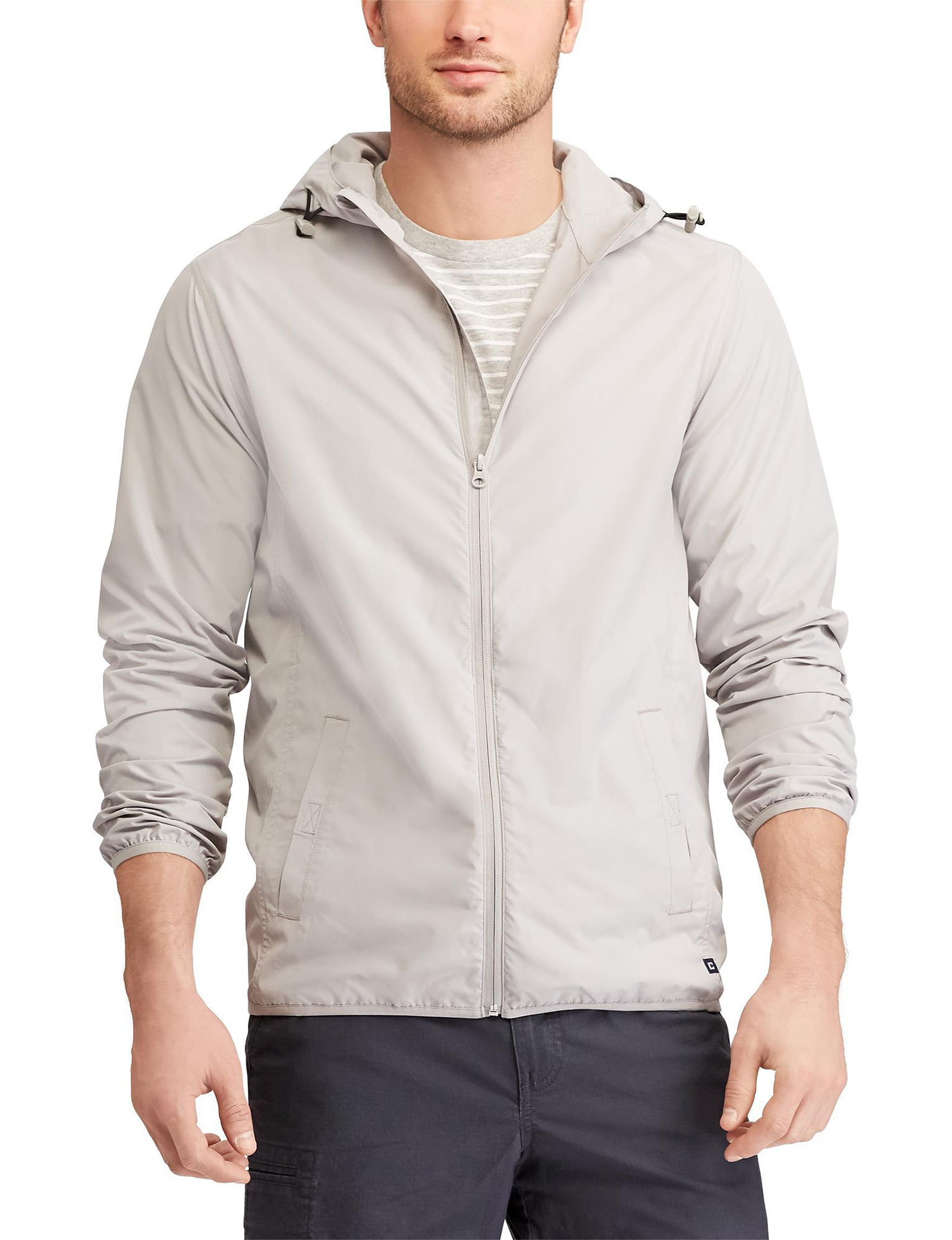 Chaps Grey Insulated Jackets
