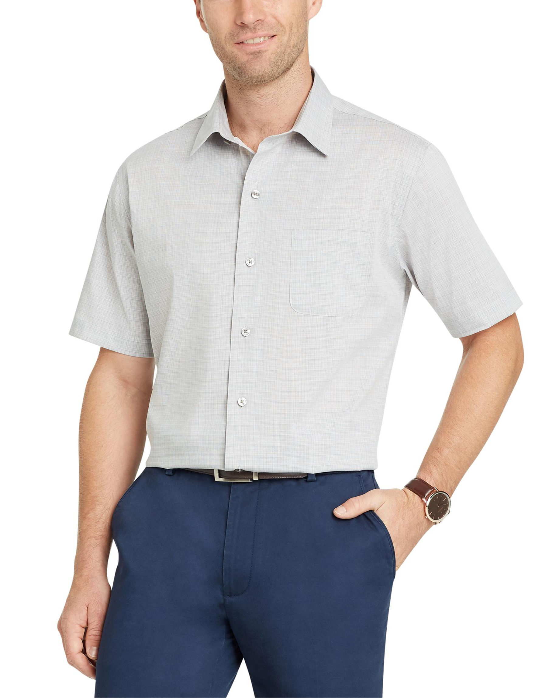 Van Heusen Grey Casual Button Down Shirts