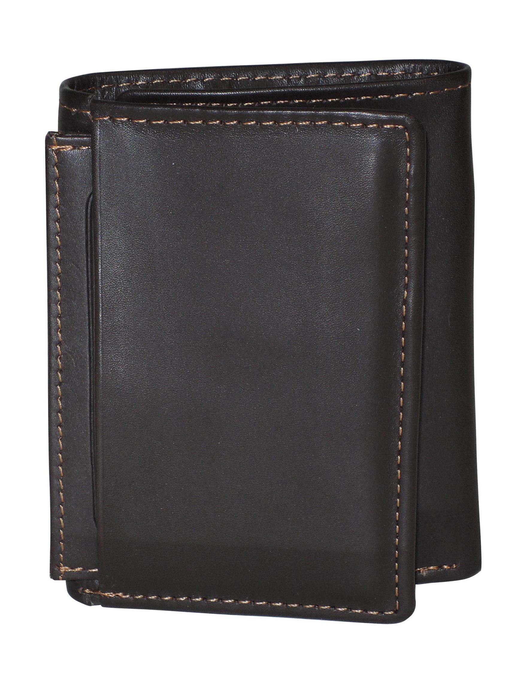 DOPP Brown Tri-fold Wallets