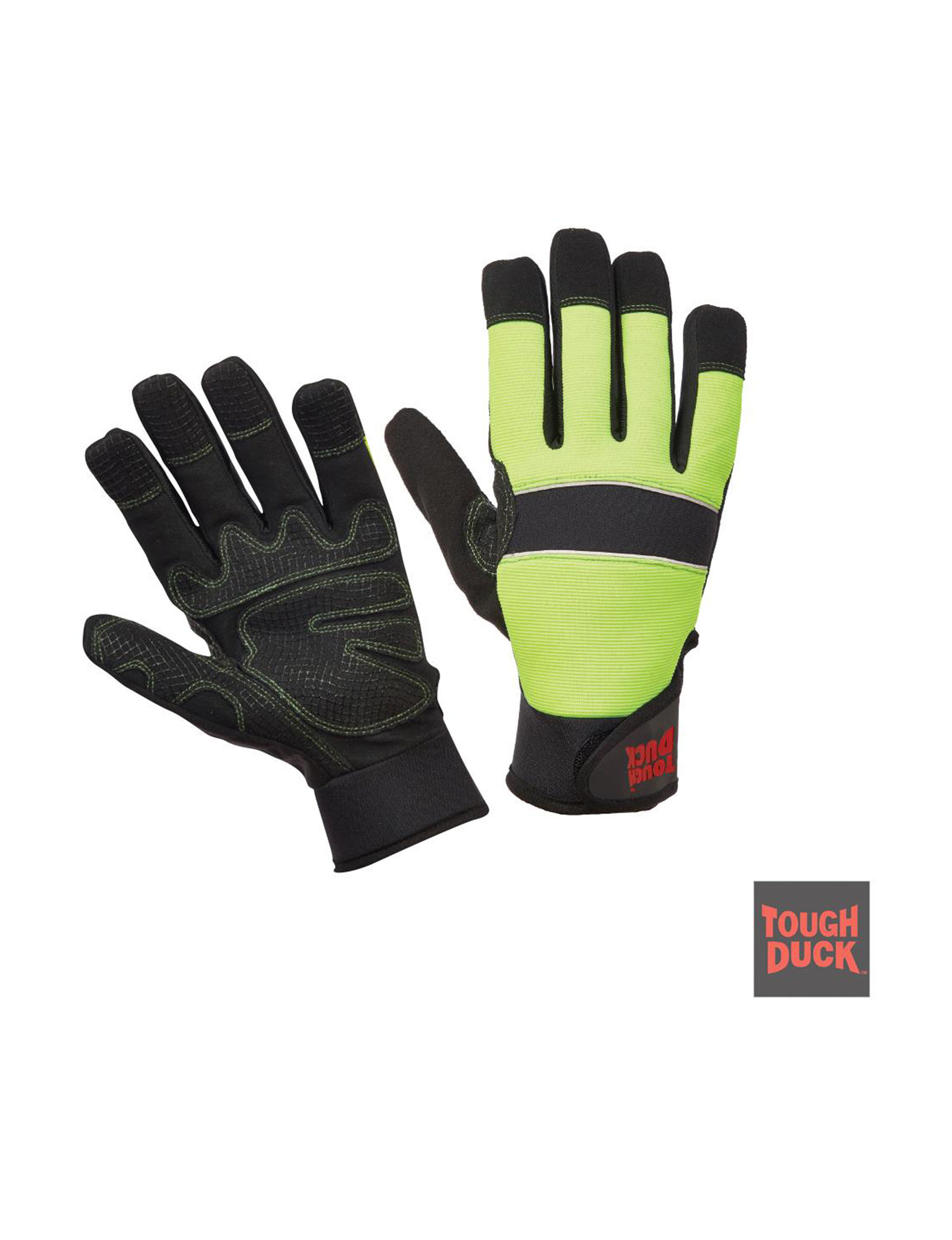 Tough Duck Lime Green Gloves & Mittens