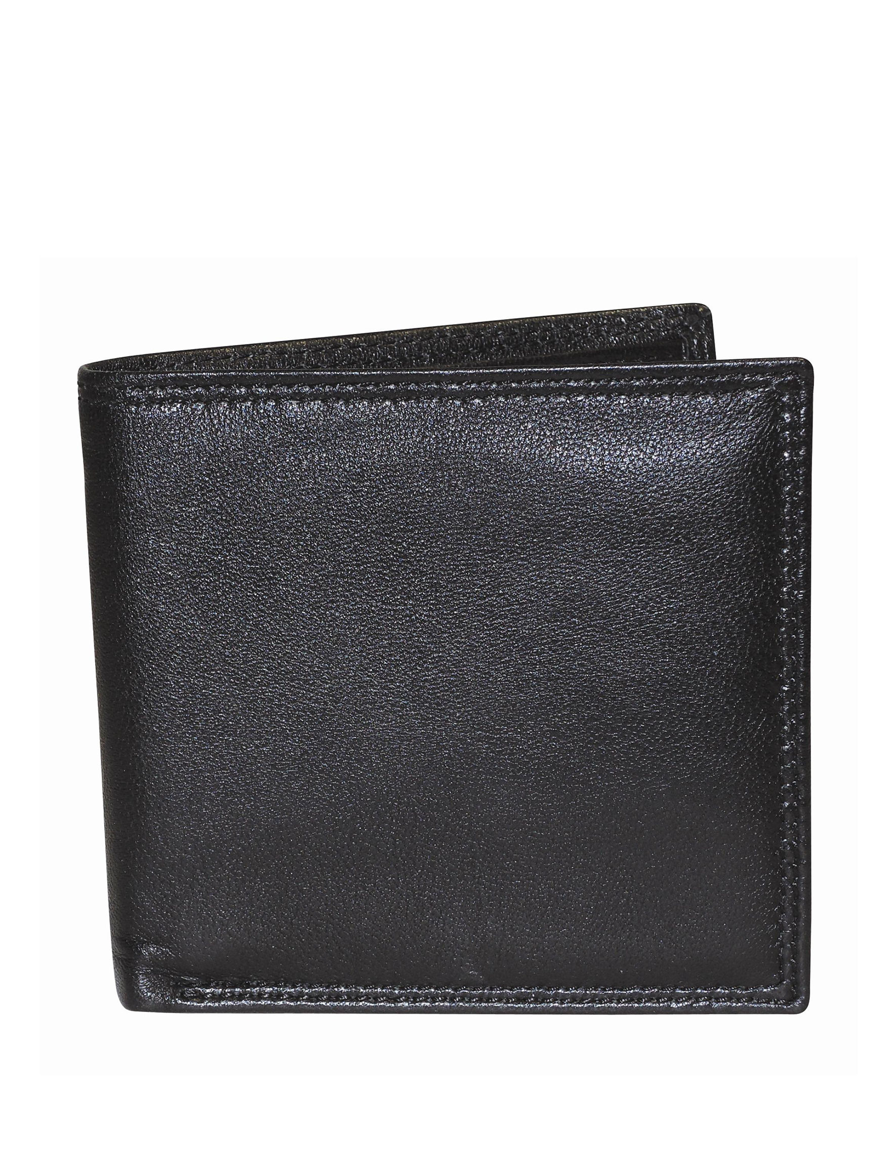 Buxton Black Bi-fold Wallets
