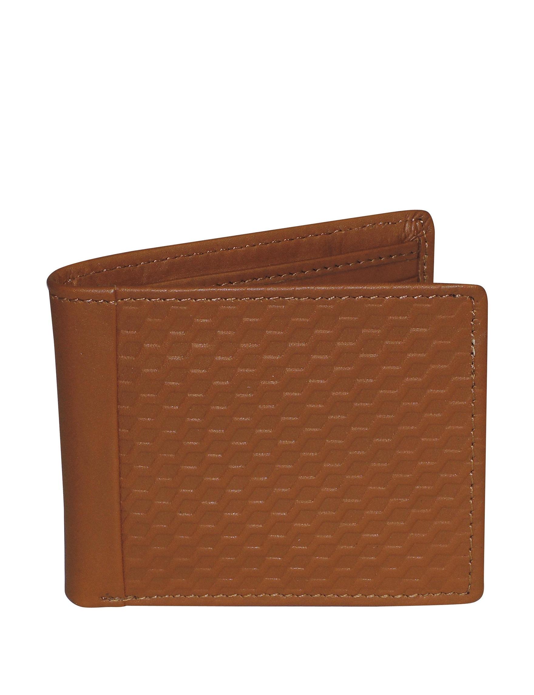 Buxton Tan Bi-fold Wallets