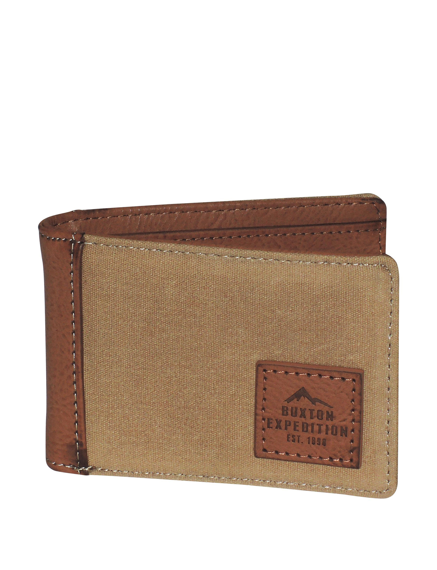 Buxton Tan Bi-fold Wallets