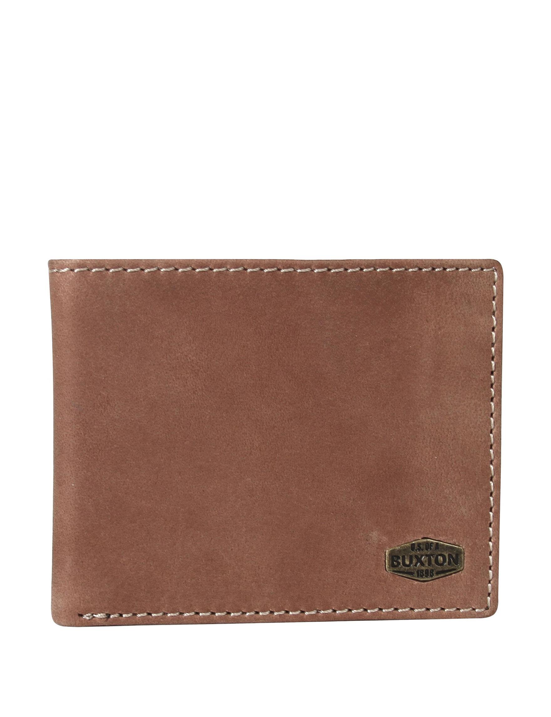 Buxton Brown Bi-fold Wallets