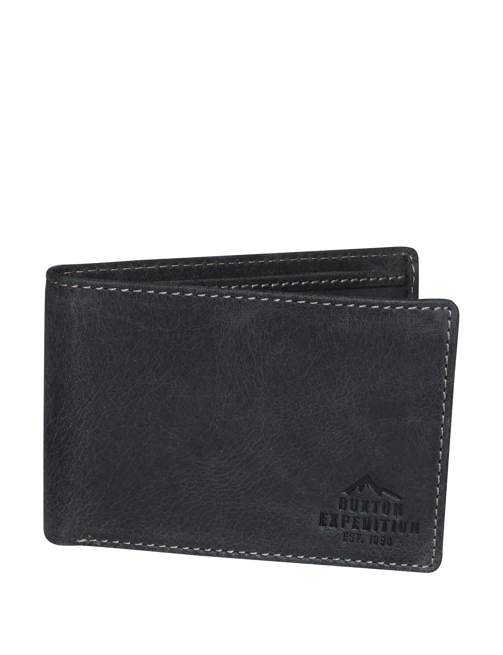 Buxton Black Bi-fold Wallets