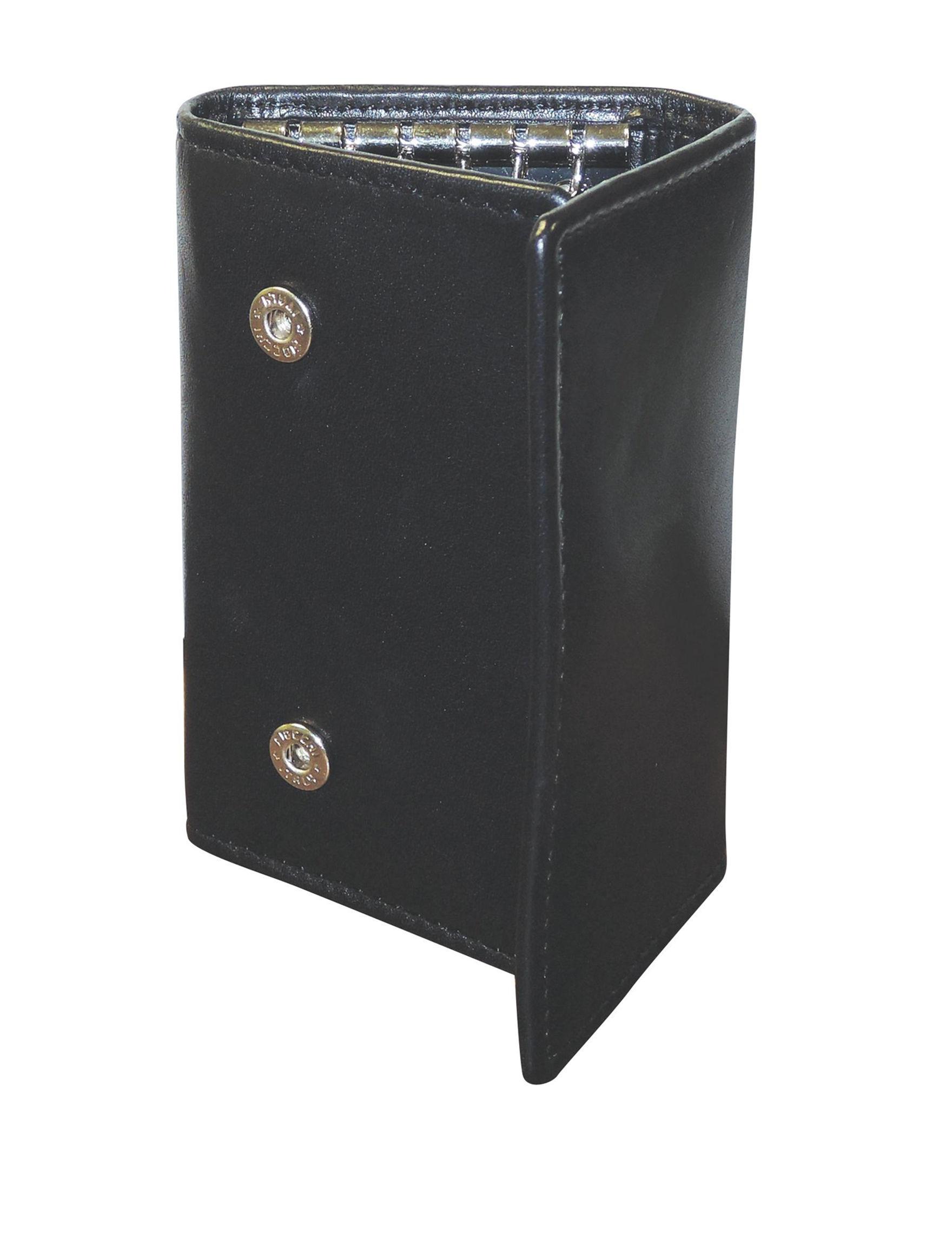 DOPP Black Tri-fold Wallets
