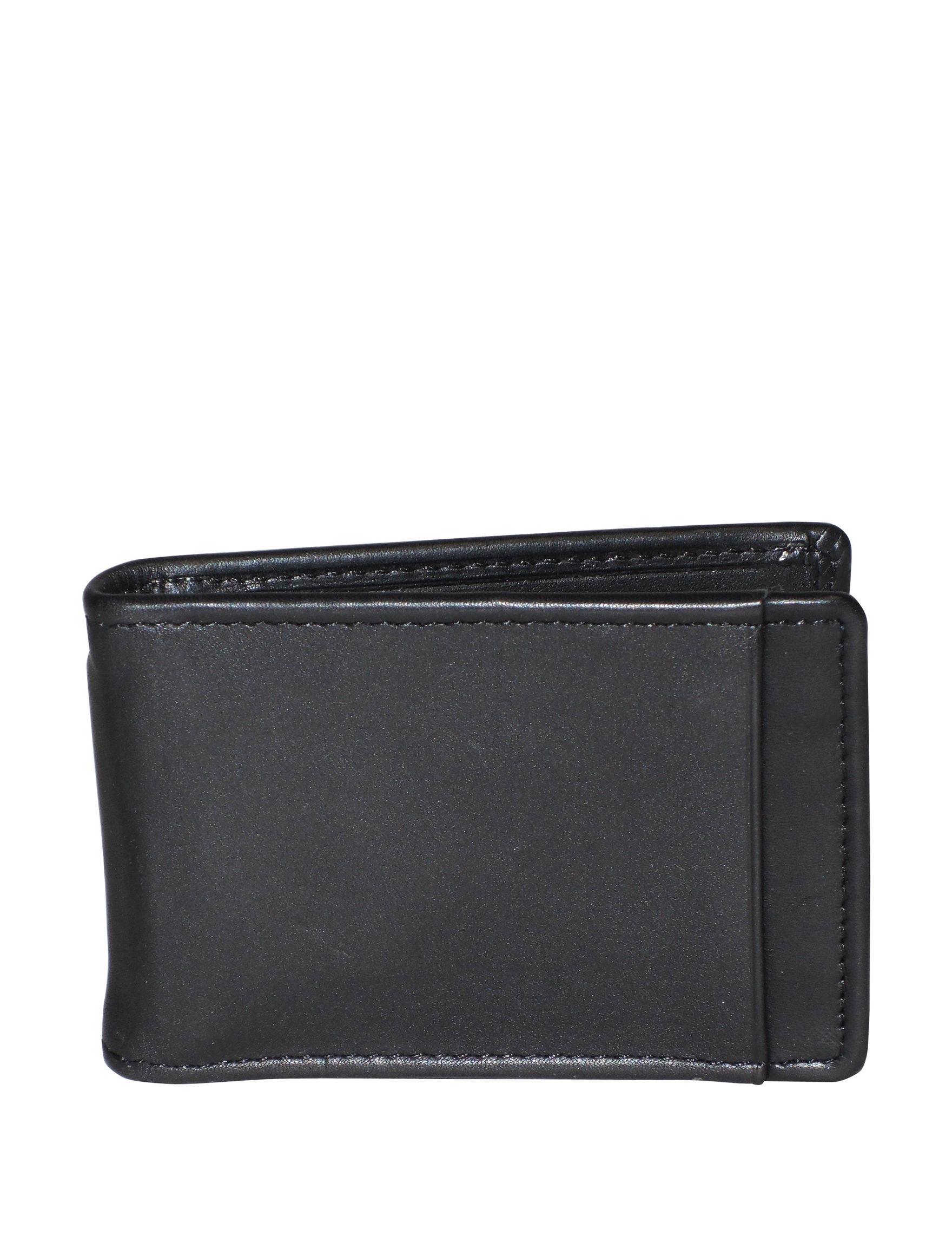 DOPP Black Bi-fold Wallets Money Clips