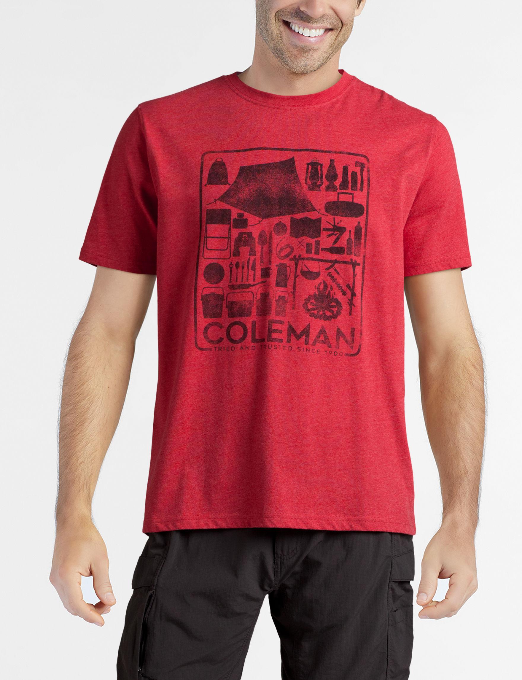 Coleman Red Tees & Tanks