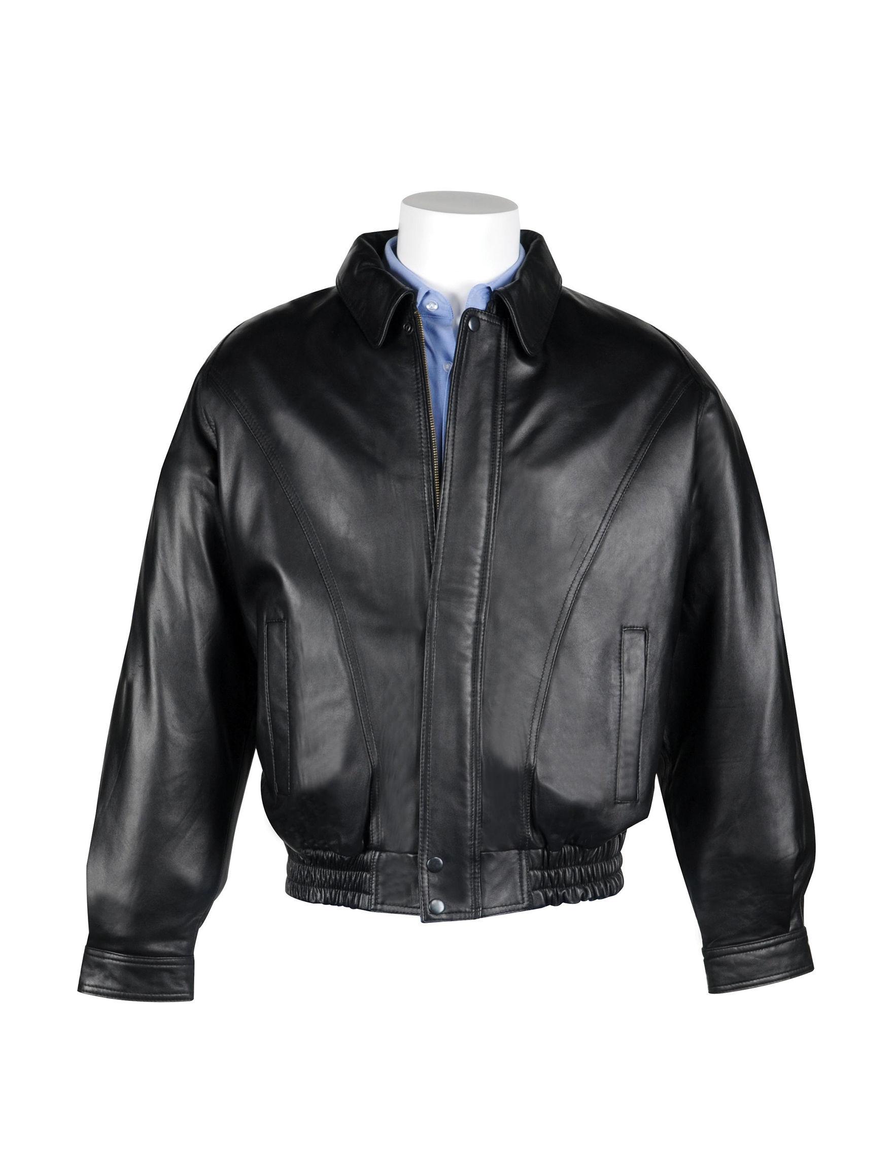 Vintage Leather Black Bomber & Moto Jackets