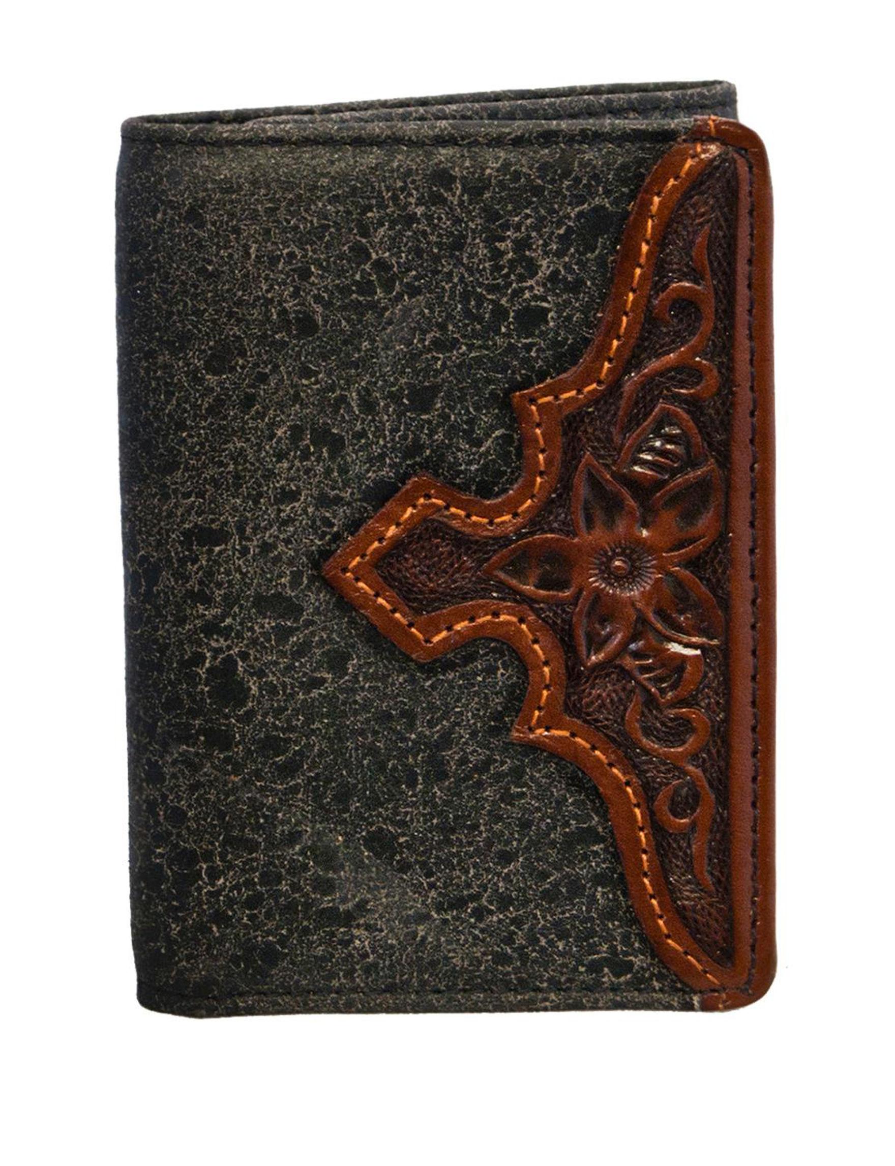 Stetson Black Tri-fold Wallets