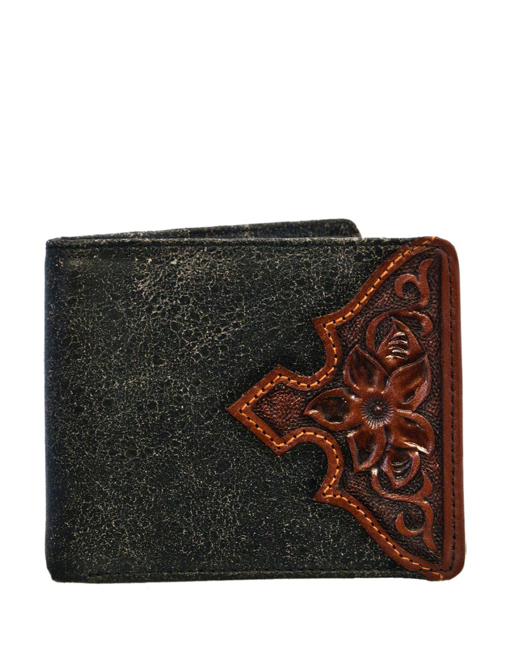 Stetson Black Bi-fold Wallets