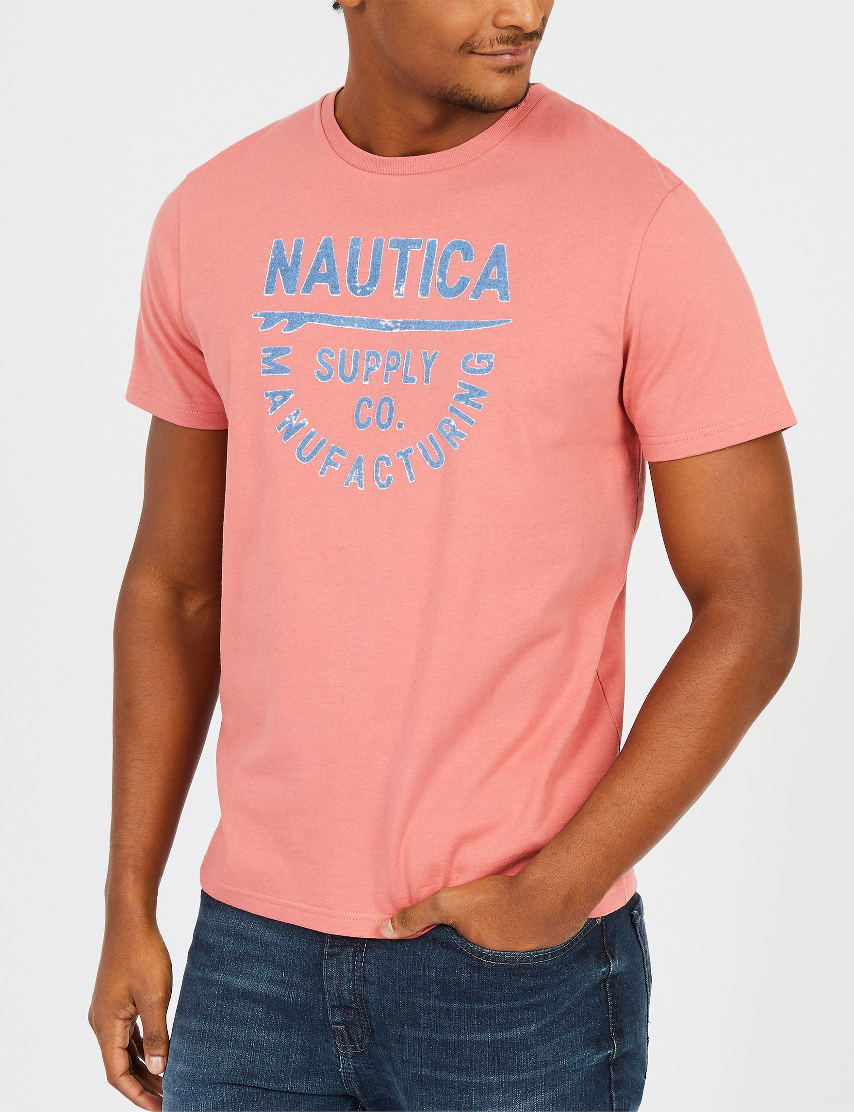 Nautica Orange Tees & Tanks