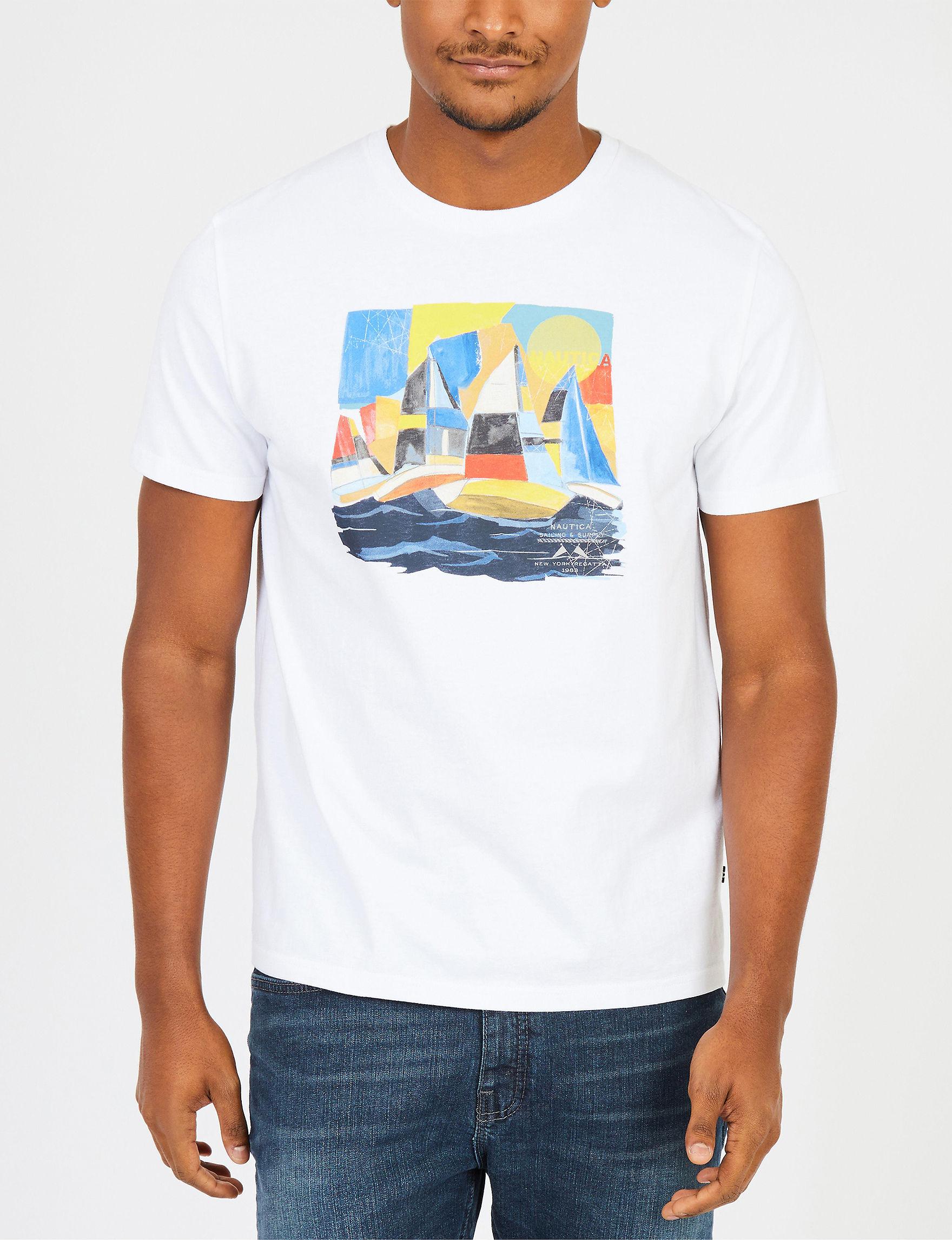 Nautica White Tees & Tanks