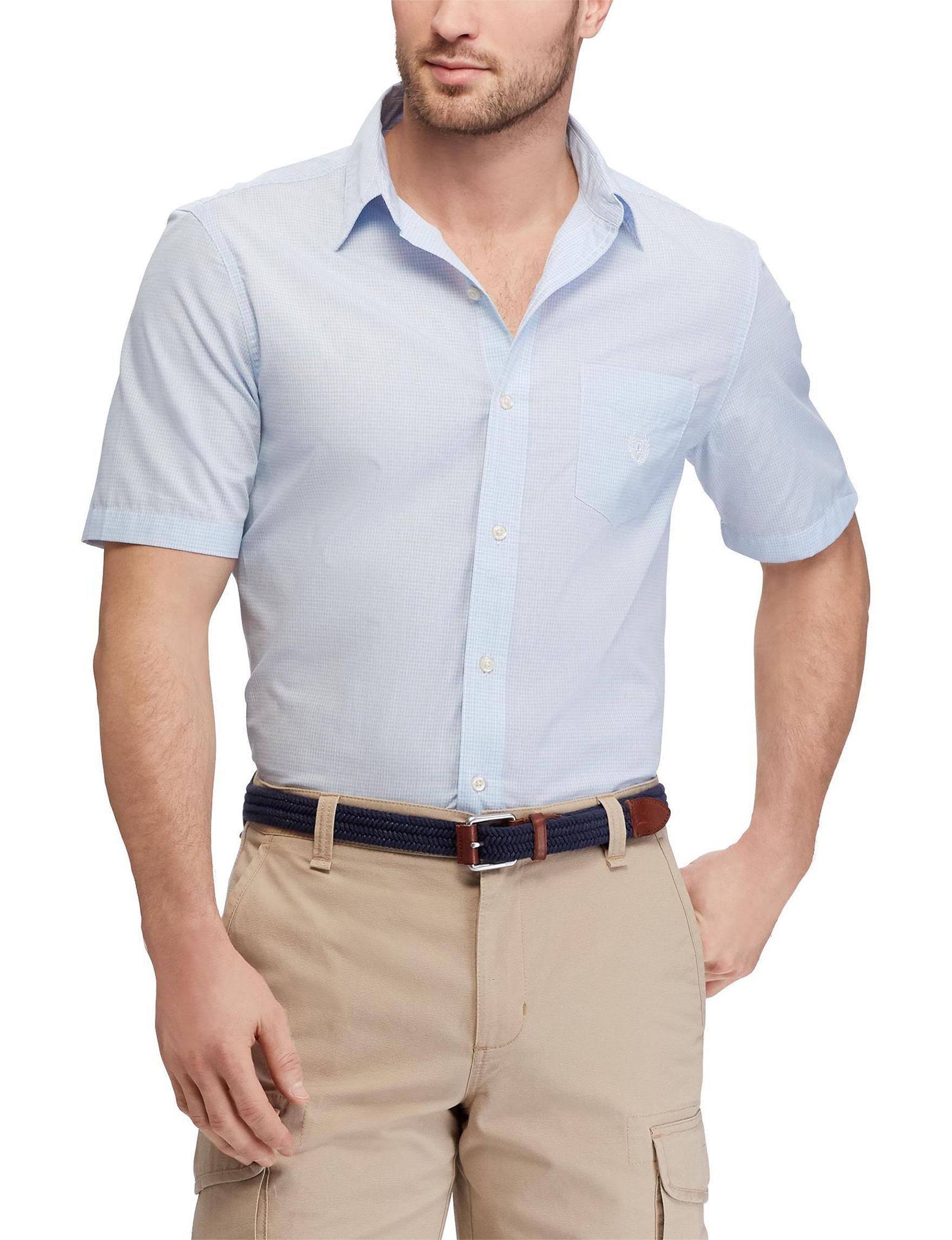 Chaps Blue Multi Casual Button Down Shirts