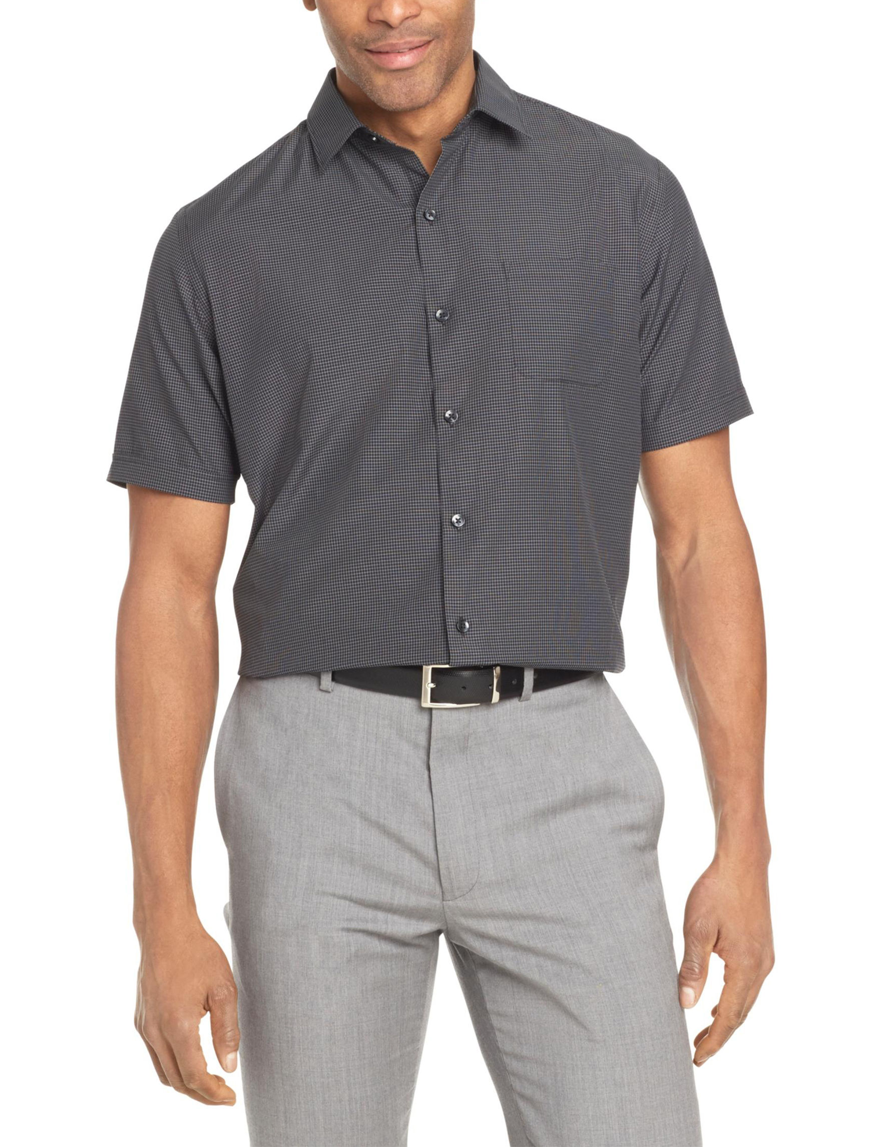 Van Heusen Black Casual Button Down Shirts