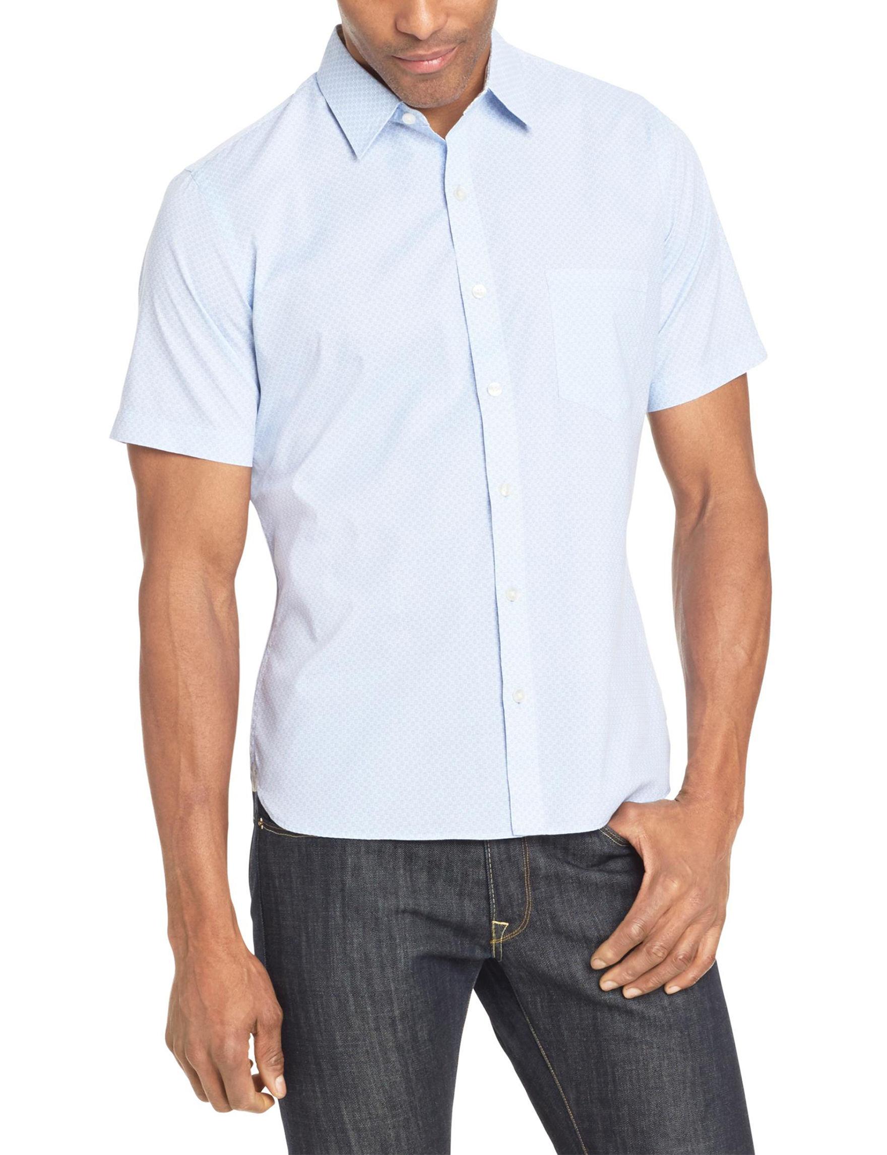 Van Heusen Blue Casual Button Down Shirts