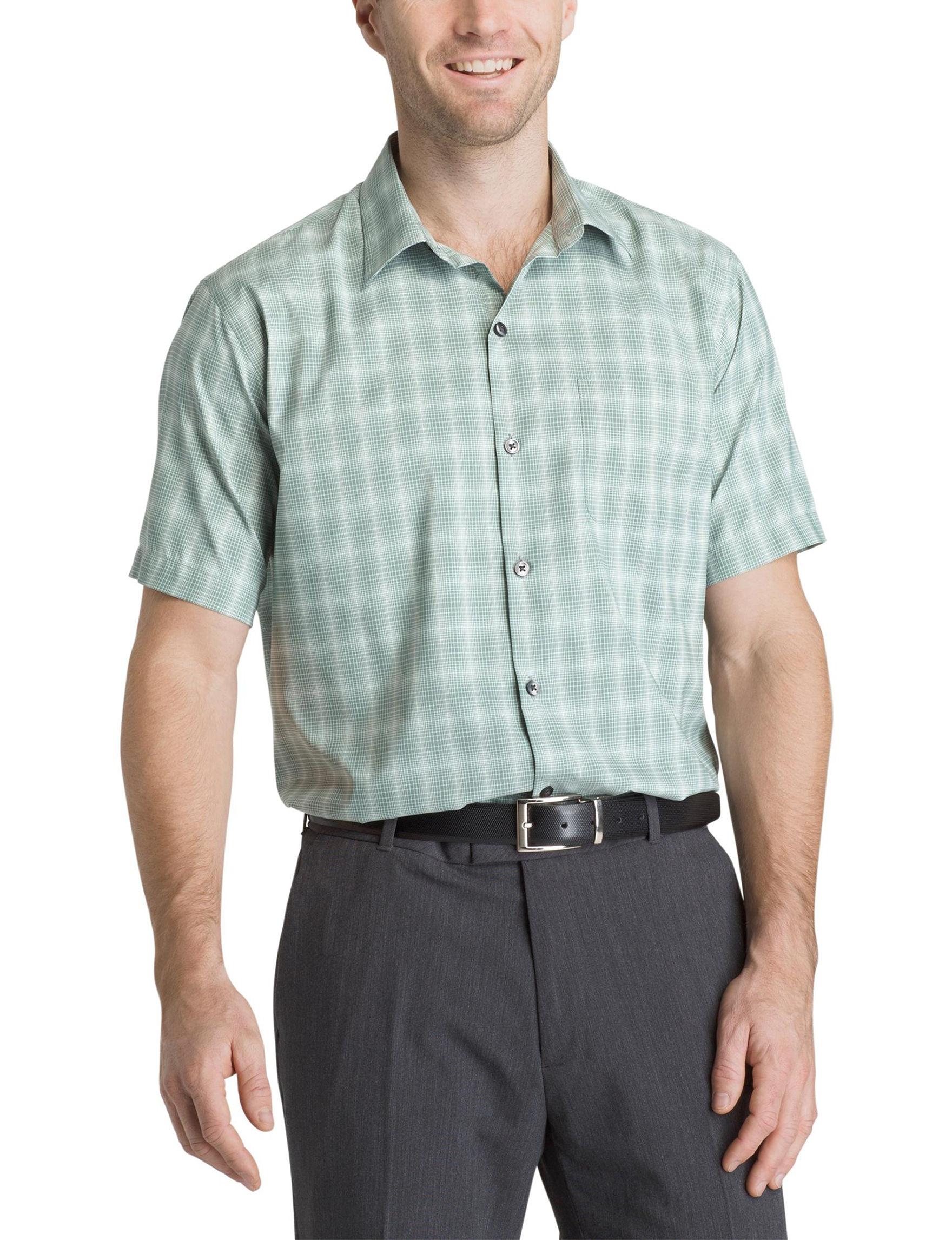 Van Heusen Green Casual Button Down Shirts