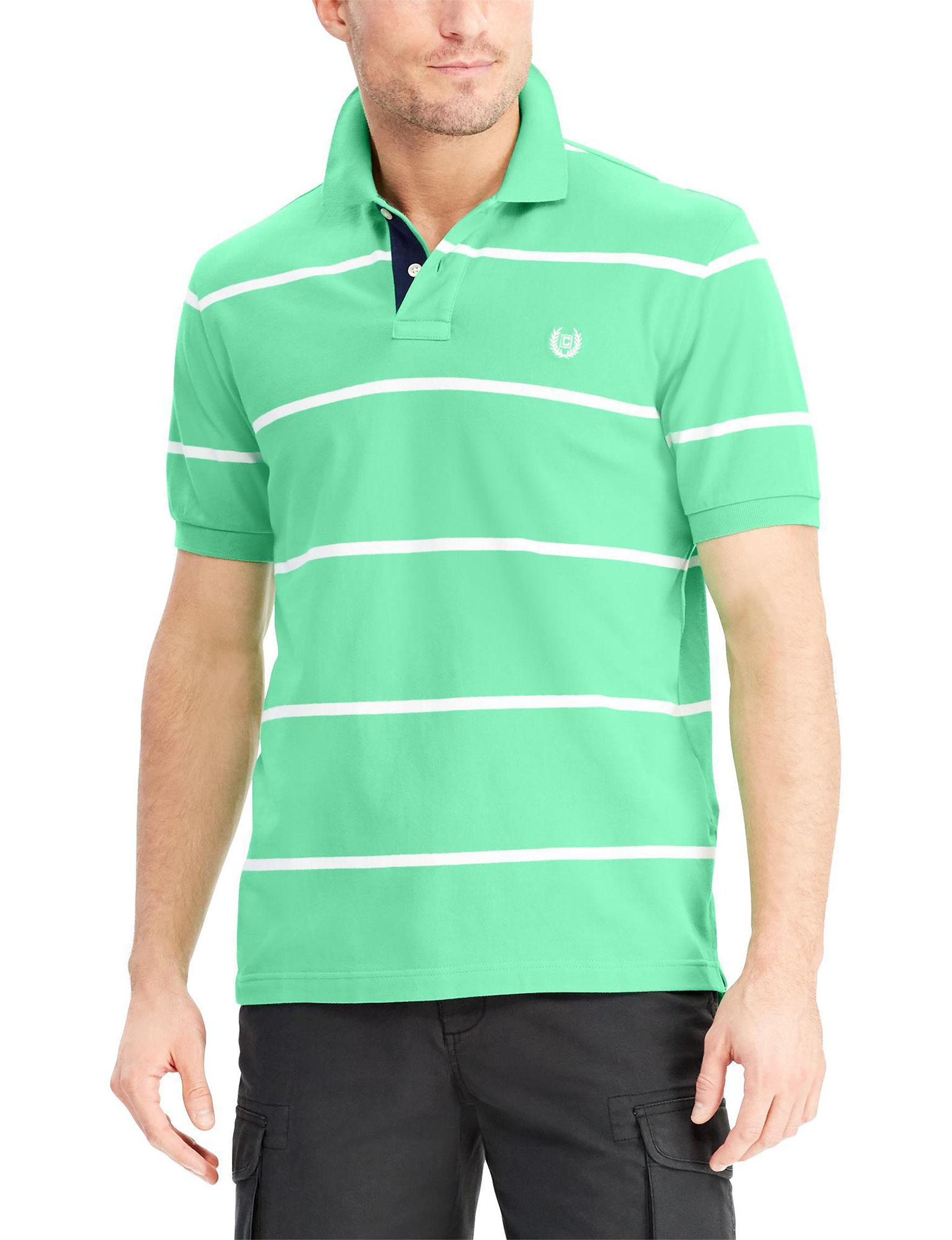 Chaps Green / White Polos