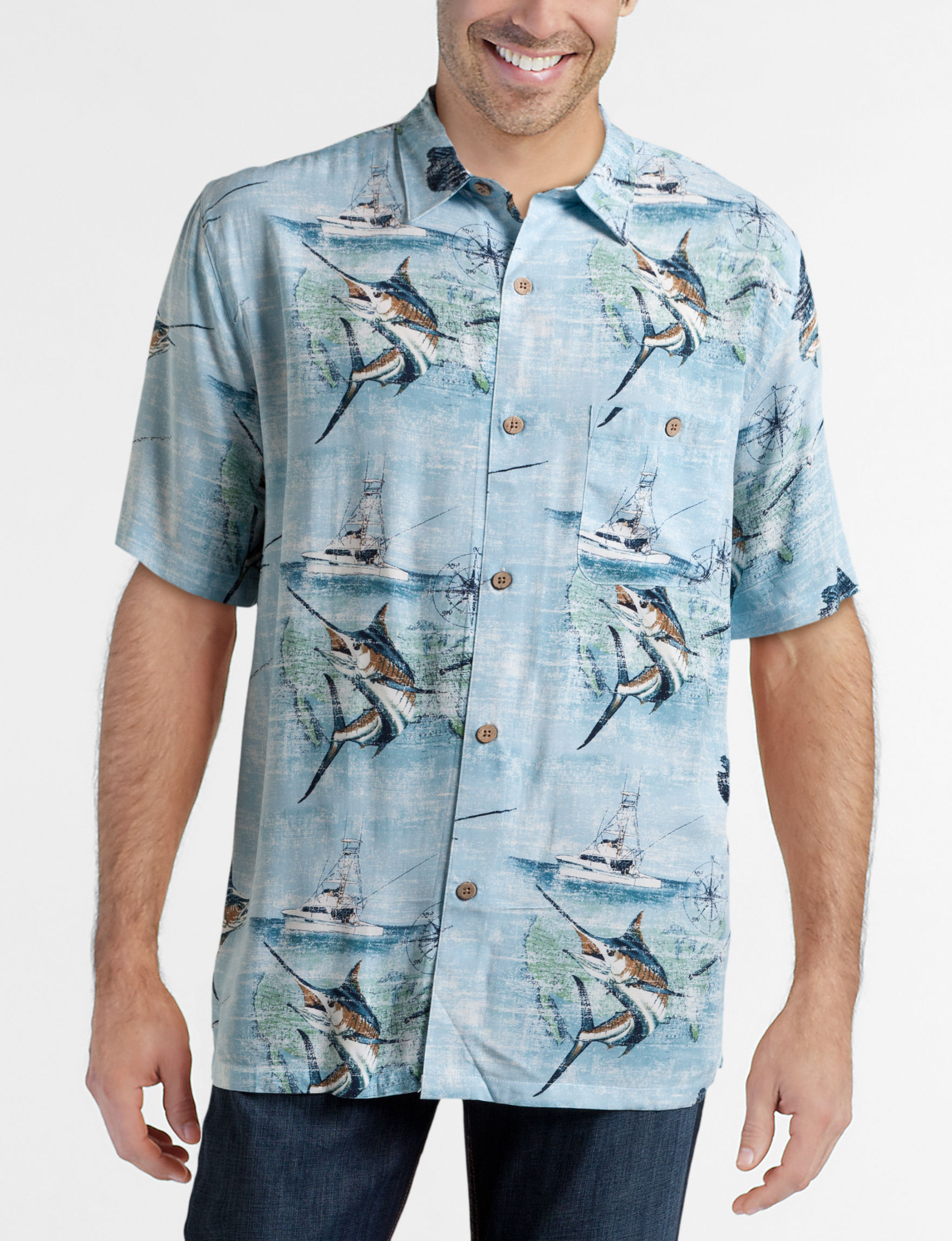 Joe Marlin Periwinkle Casual Button Down Shirts
