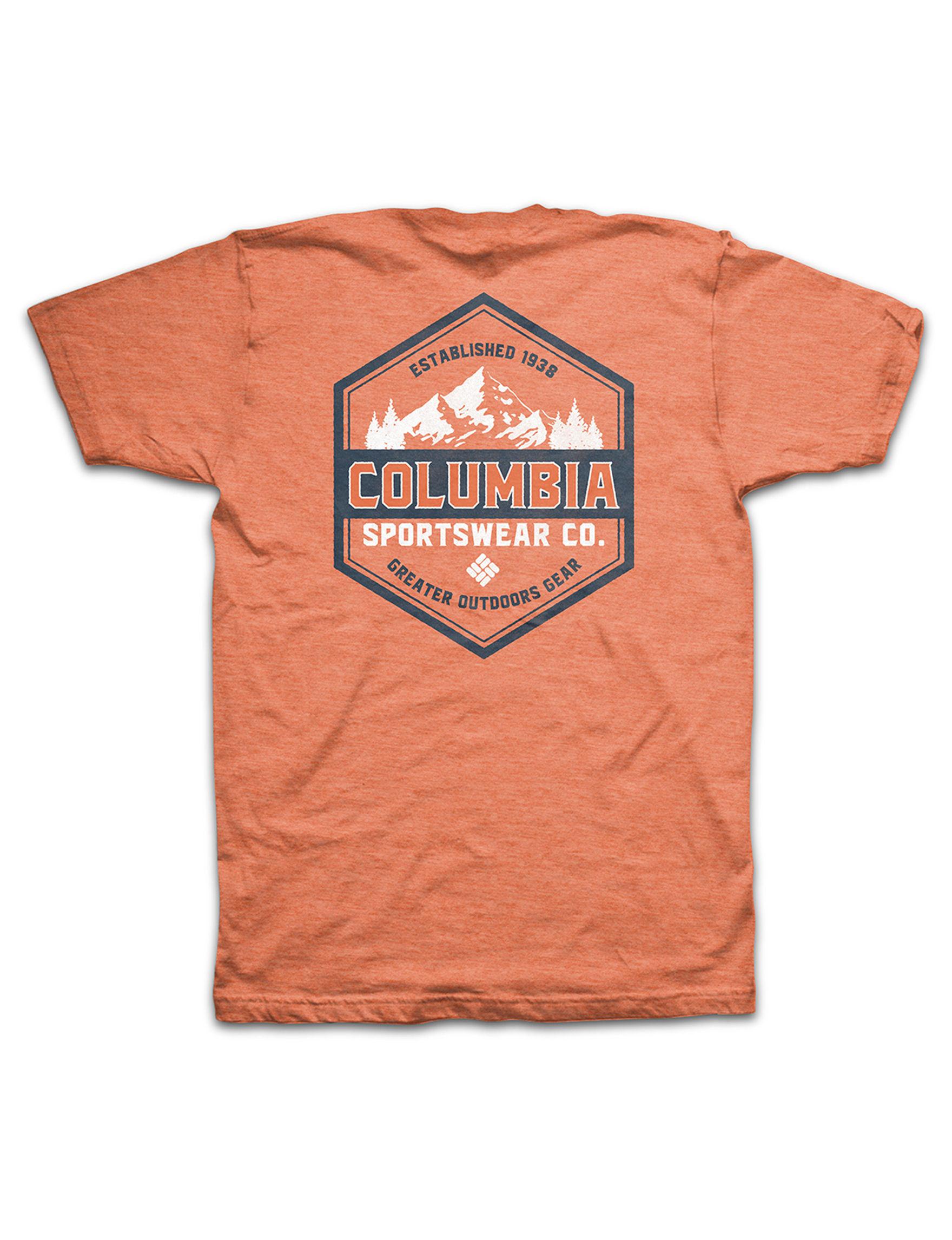 Columbia Orange Tees & Tanks