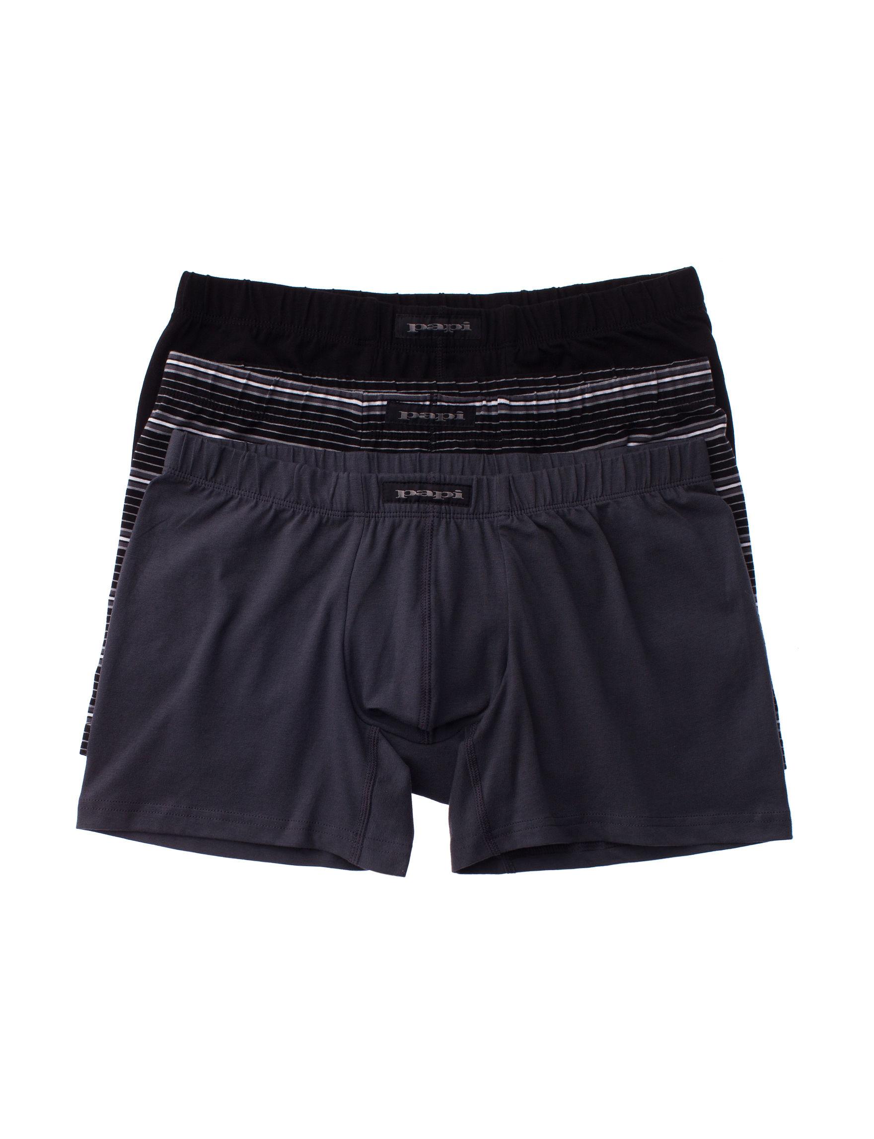 Papi Grey / Black Boxer Briefs