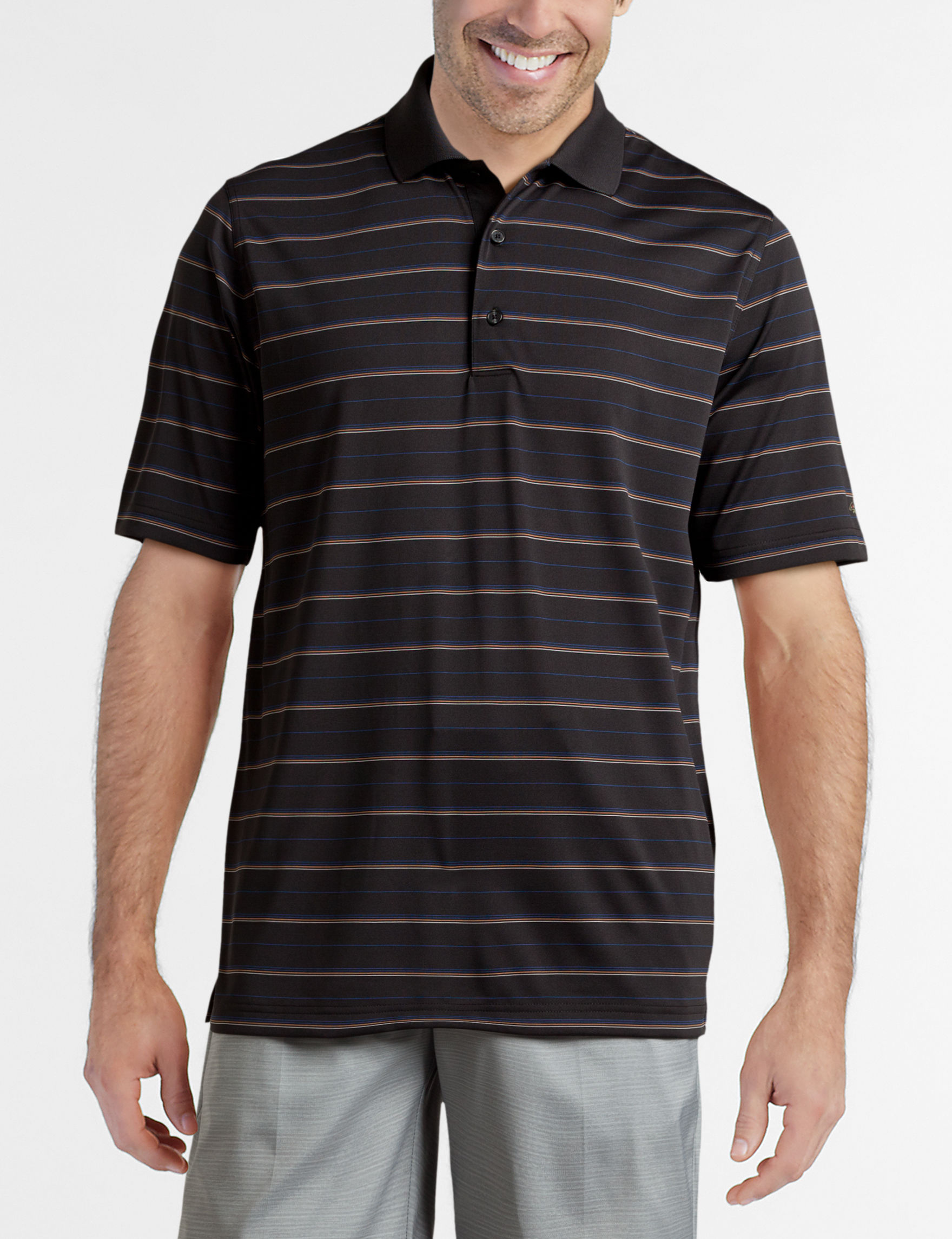 Greg Norman Black Stripe Polos