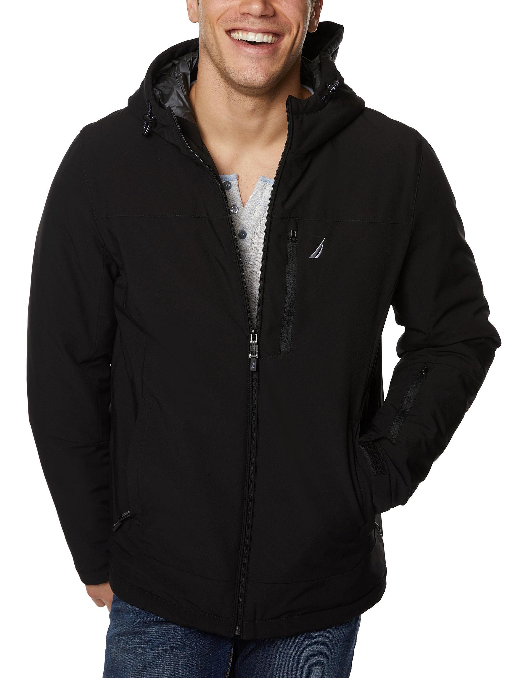 Nautica Black Lightweight Jackets & Blazers