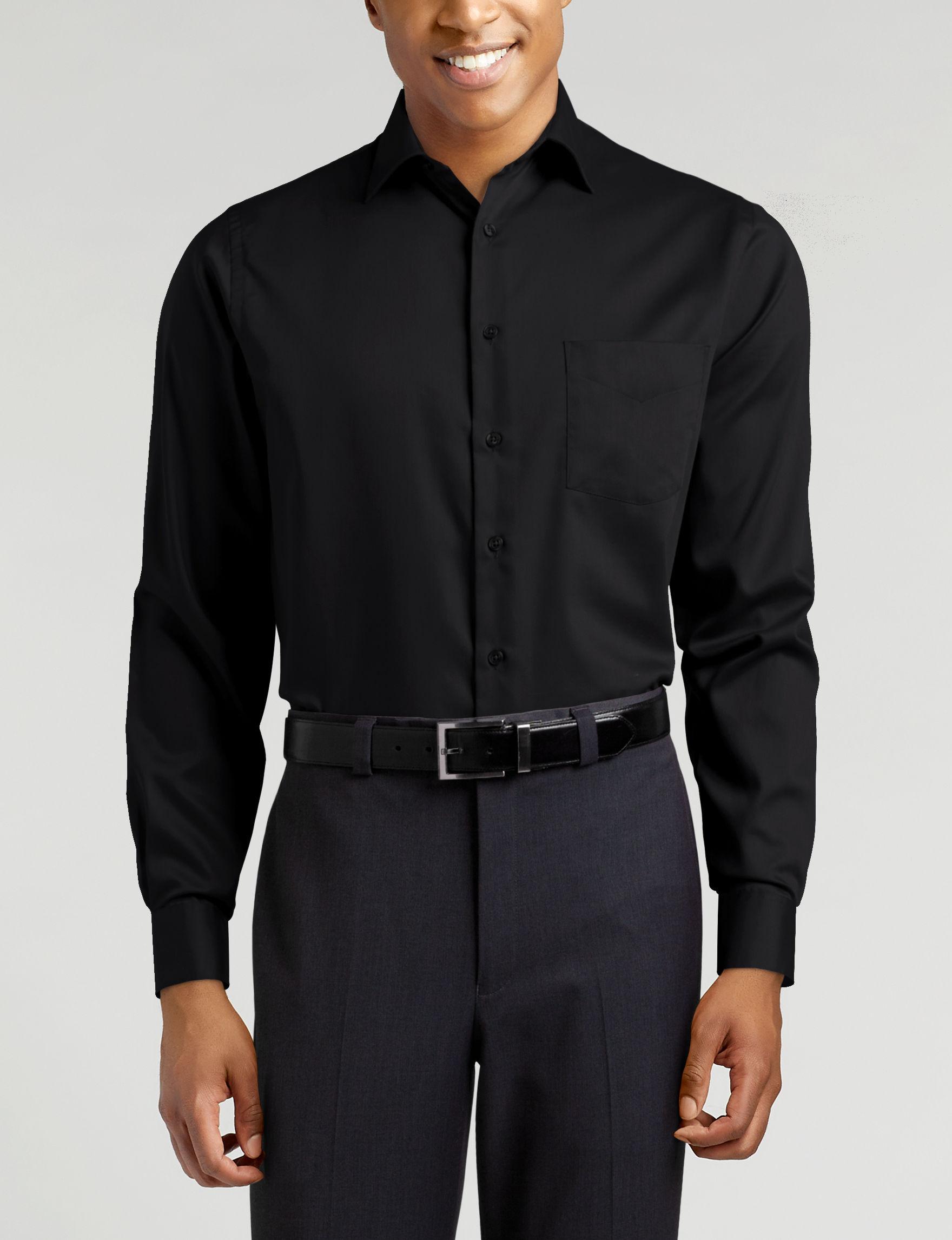 Van Heusen Black Dress Shirts